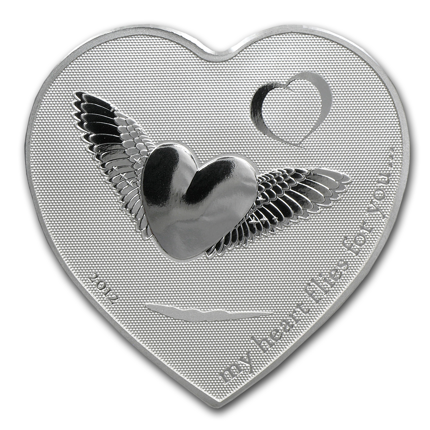 2012 Palau Silver $2 My Heart Flies for You