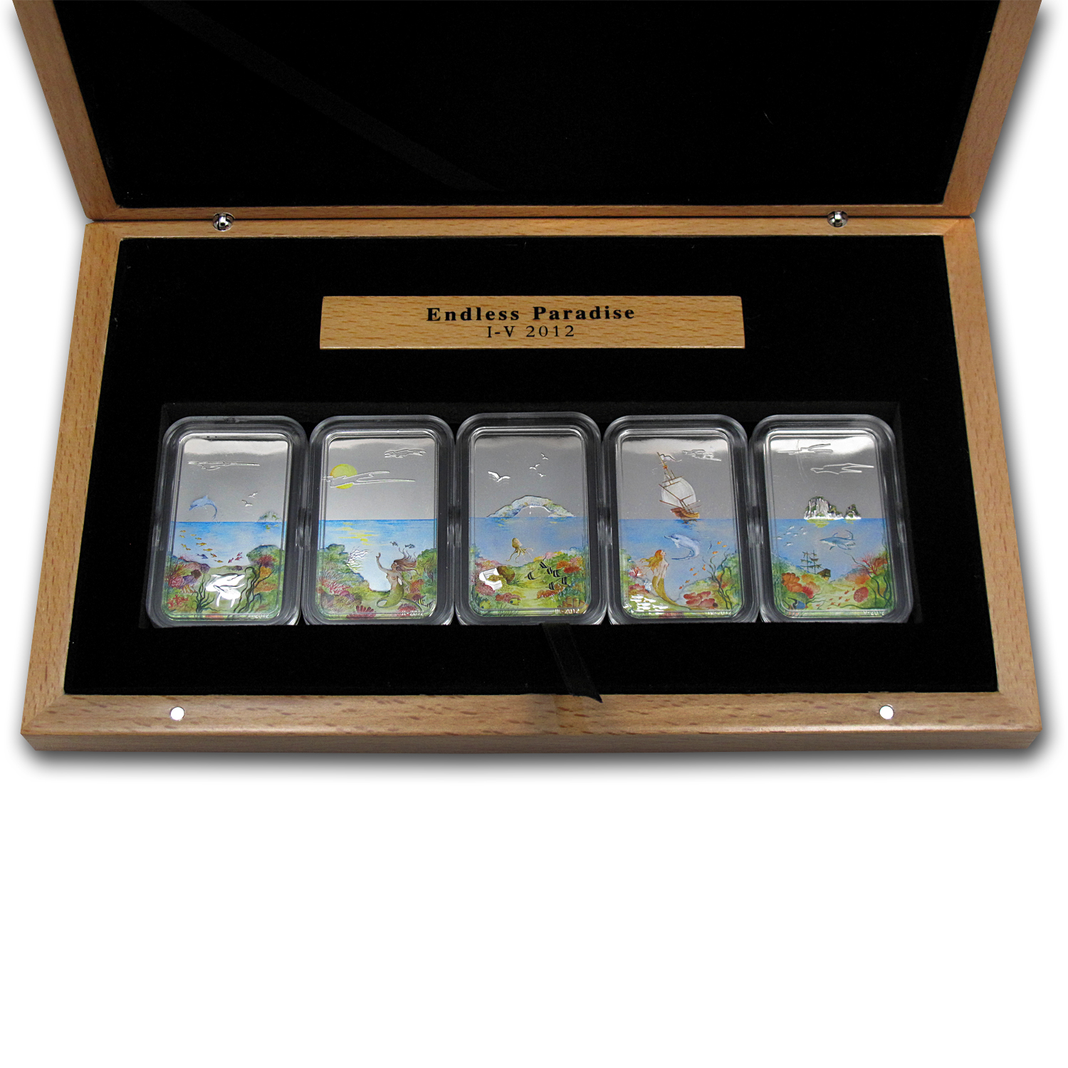 Palau 2012 Silver $2 Endless Paradise - 5 Coin Set ($10)