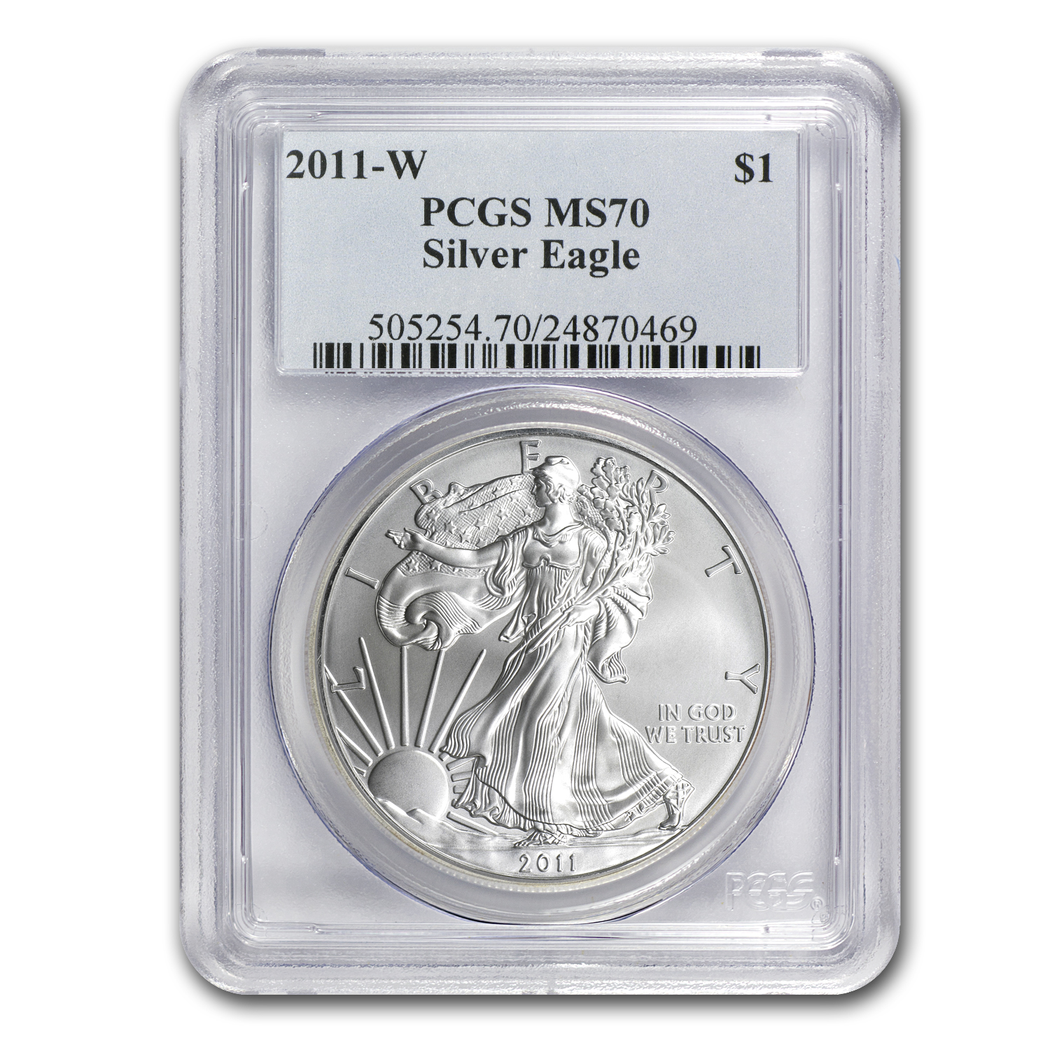 2011-W (Burnished) Silver American Eagle MS-70 PCGS