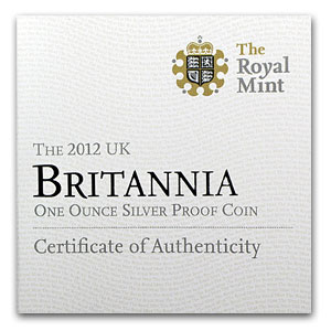 2012 1 oz Silver Britannia Proof (w/Box & COA)