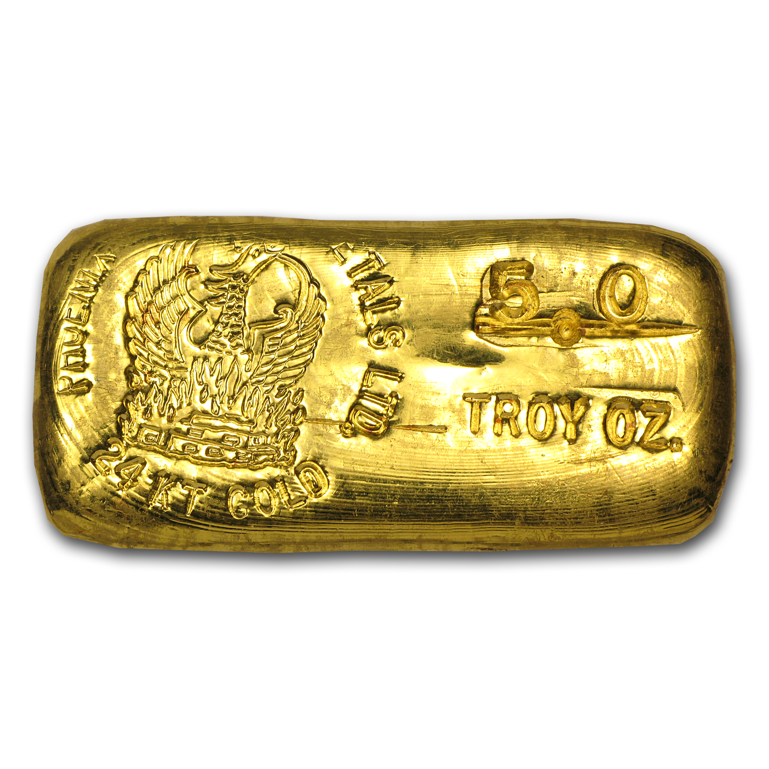 5 oz Gold Bar - Phoenix Precious Metals