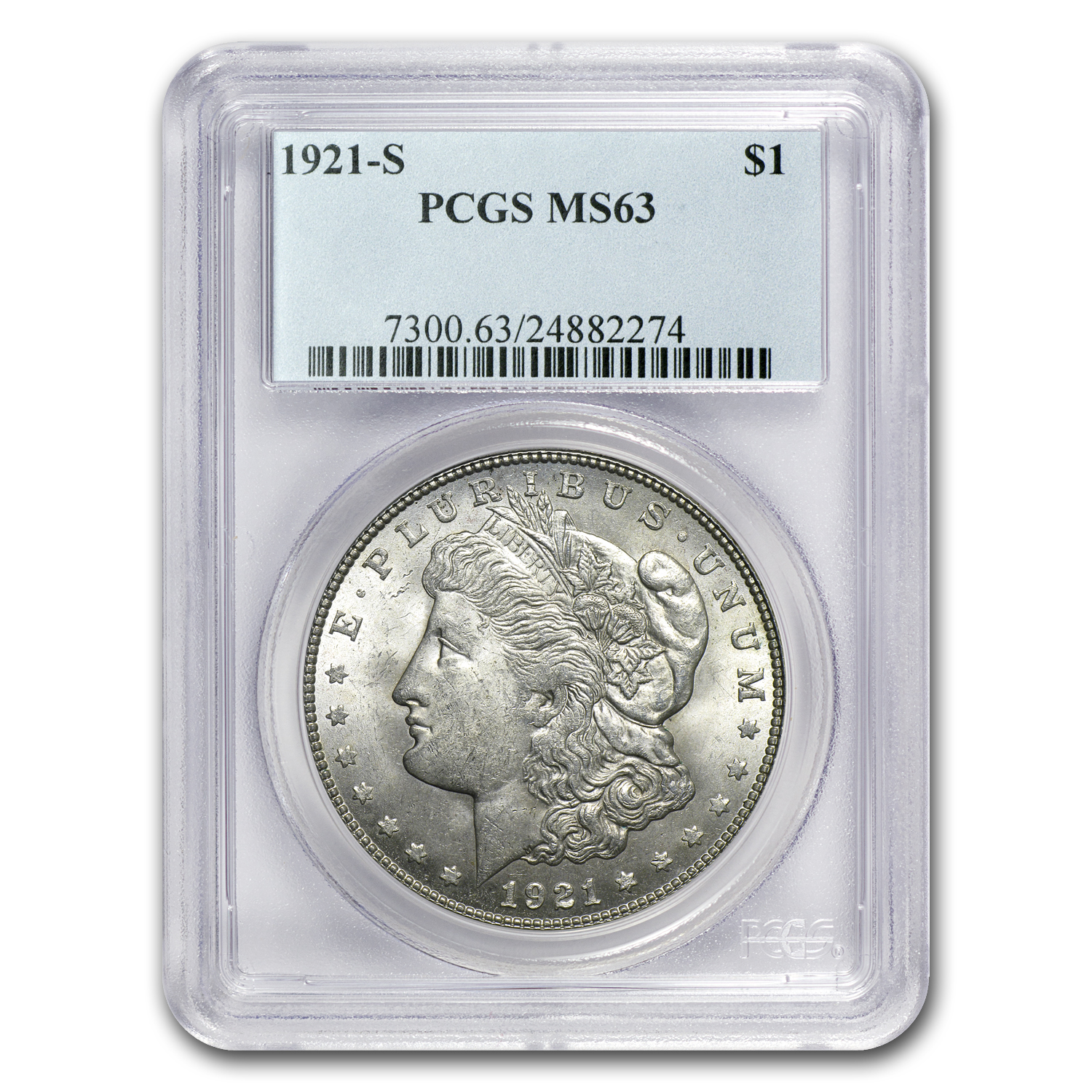 1921 Morgan Dollar 3 Coin P-D-S Mint's Set MS-63 PCGS
