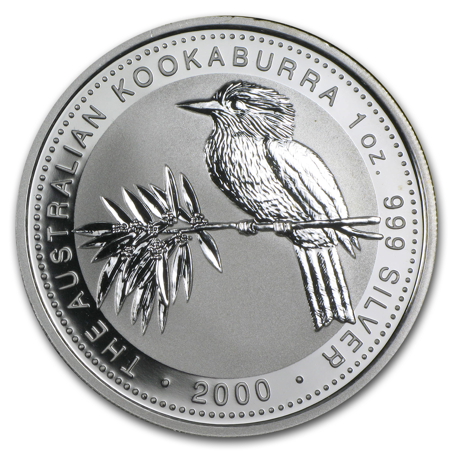 2000 Australia 1 oz Silver Kookaburra Proof (Spotty)