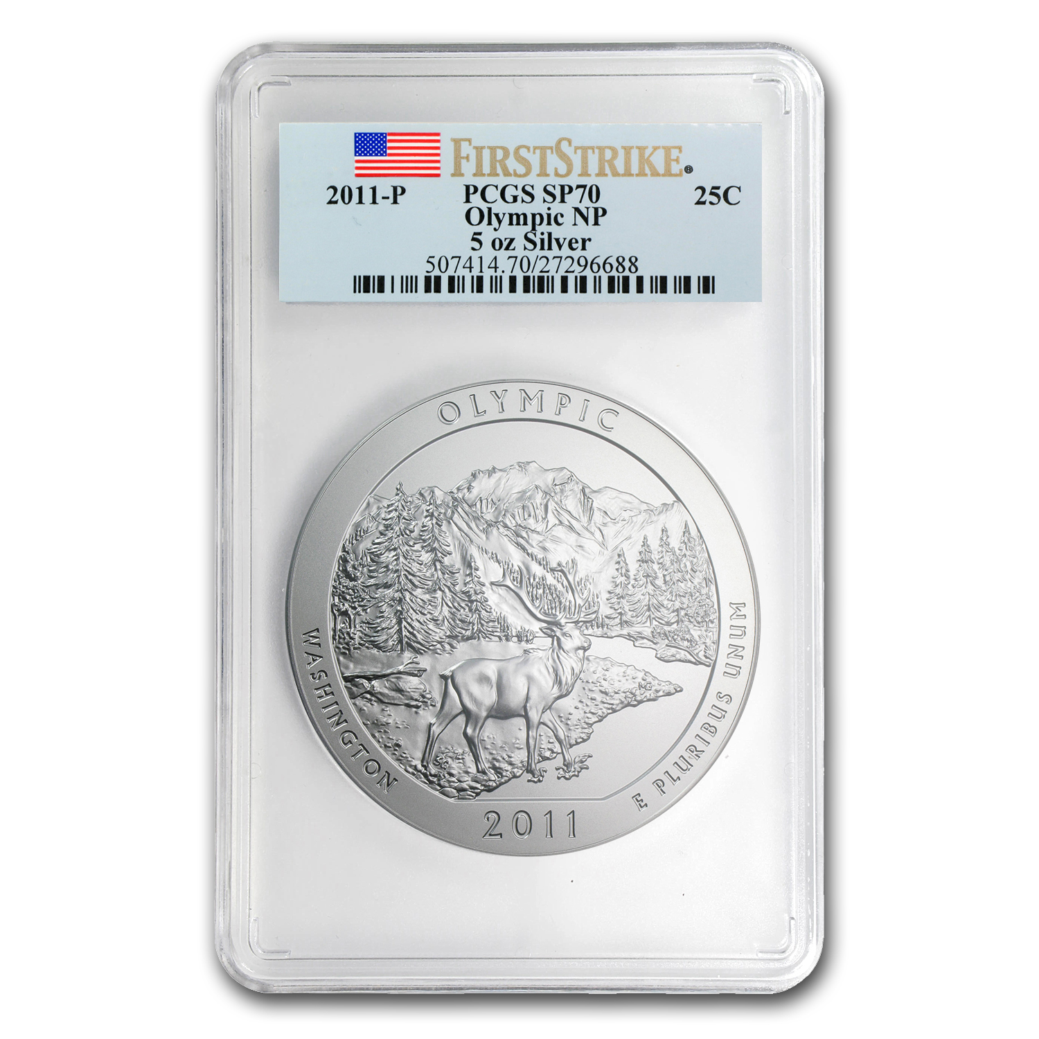 2011-P 5 oz Silver ATB Olympic SP-70 PCGS (First Strike)