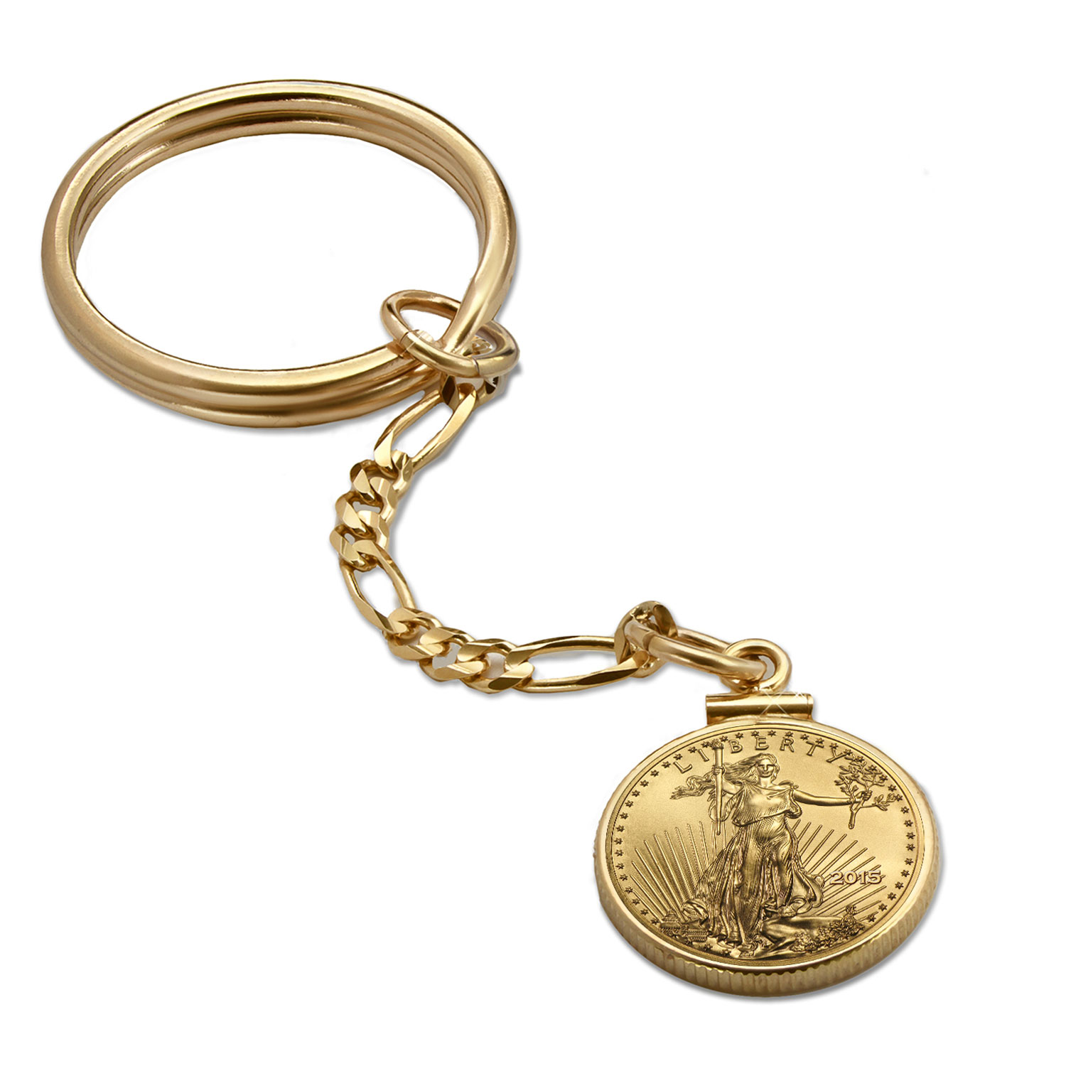 14K Gold Screw-Top Key Ring - 16.5 mm