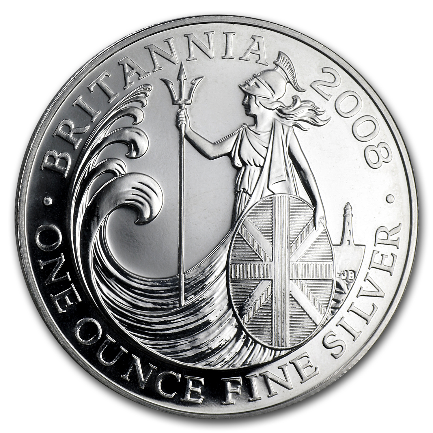 2008 1 oz Silver Britannia - Royal Mint Packaging