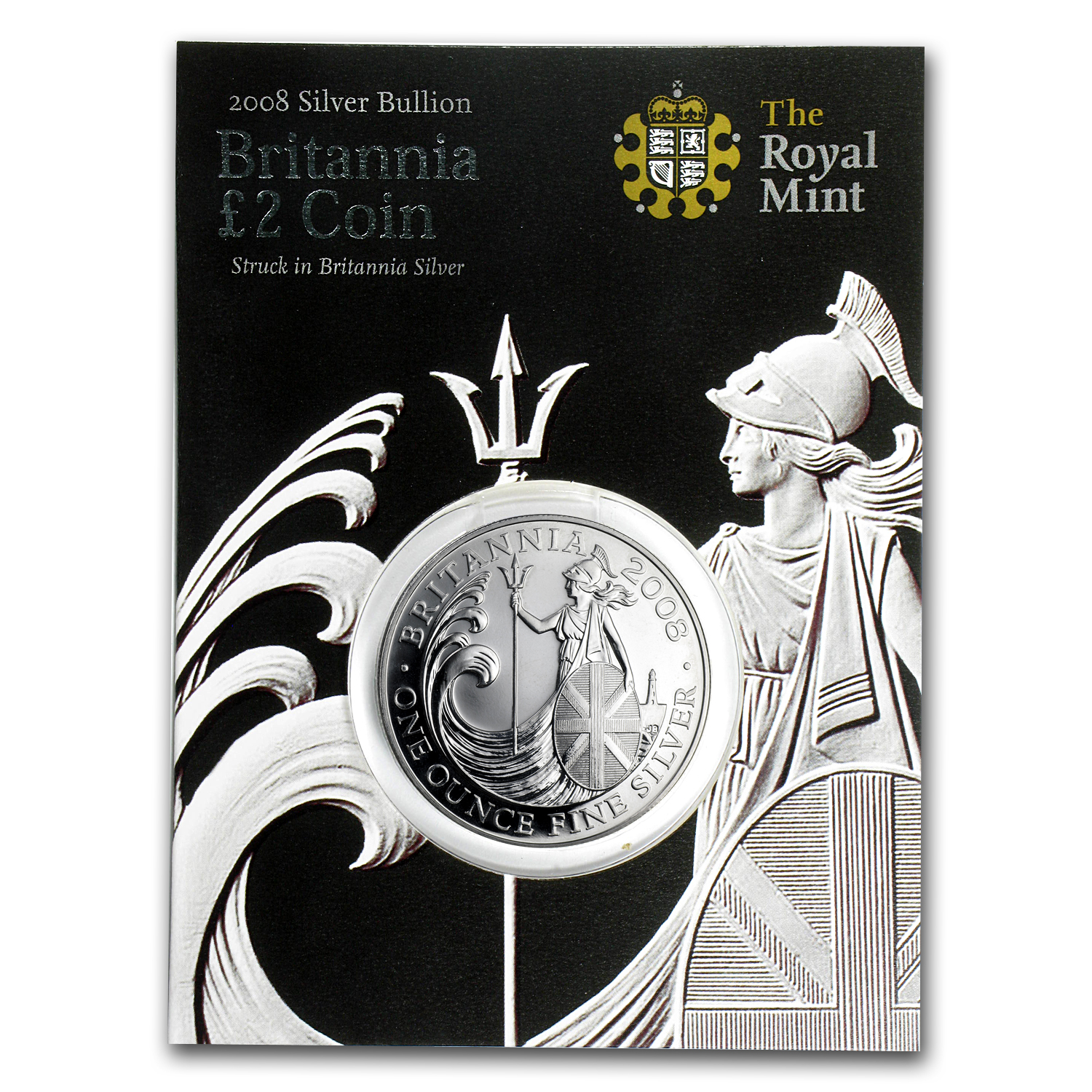2008 1 oz Silver Britannia BU (Royal Mint Packaging)