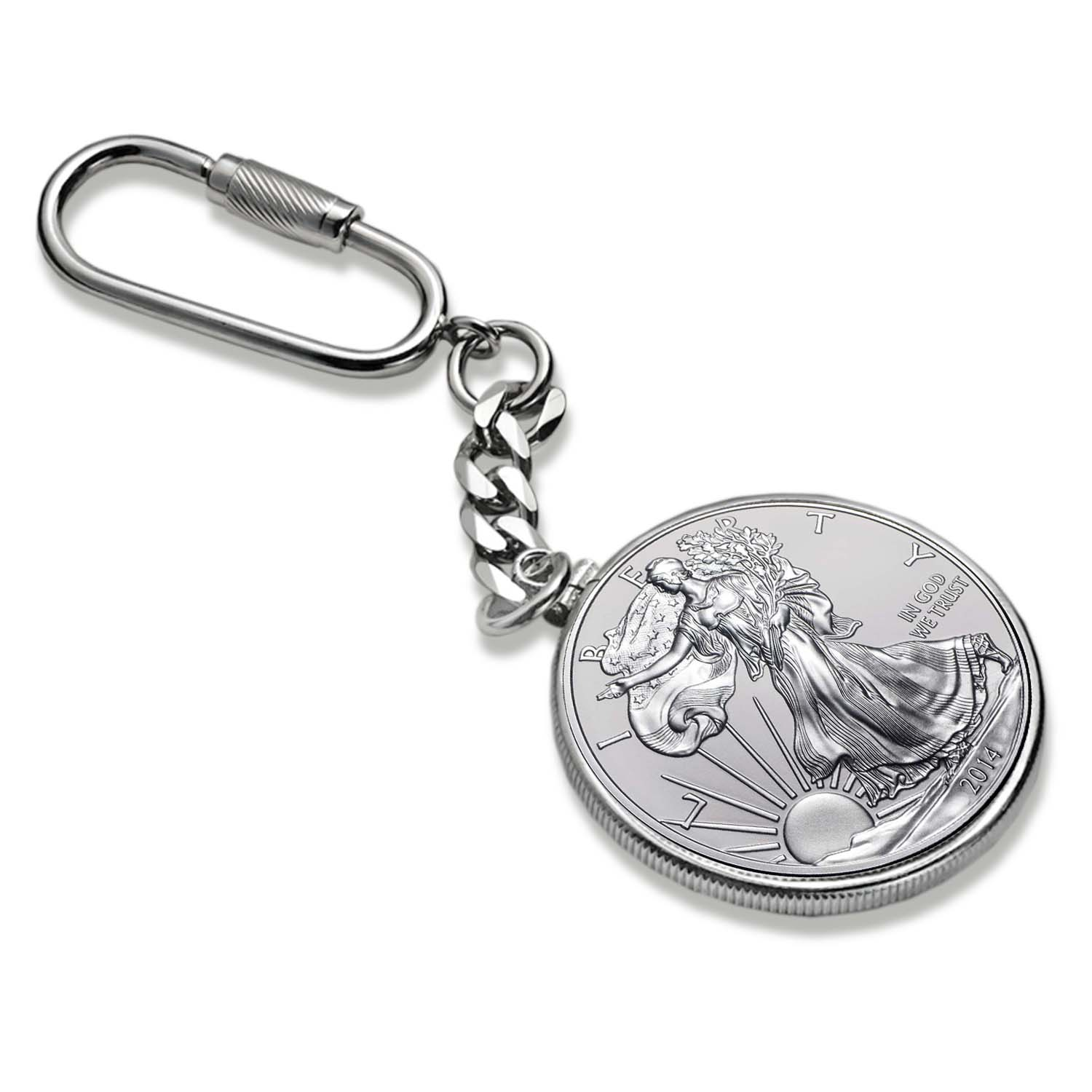2014 1 oz Silver American Eagle Key Ring