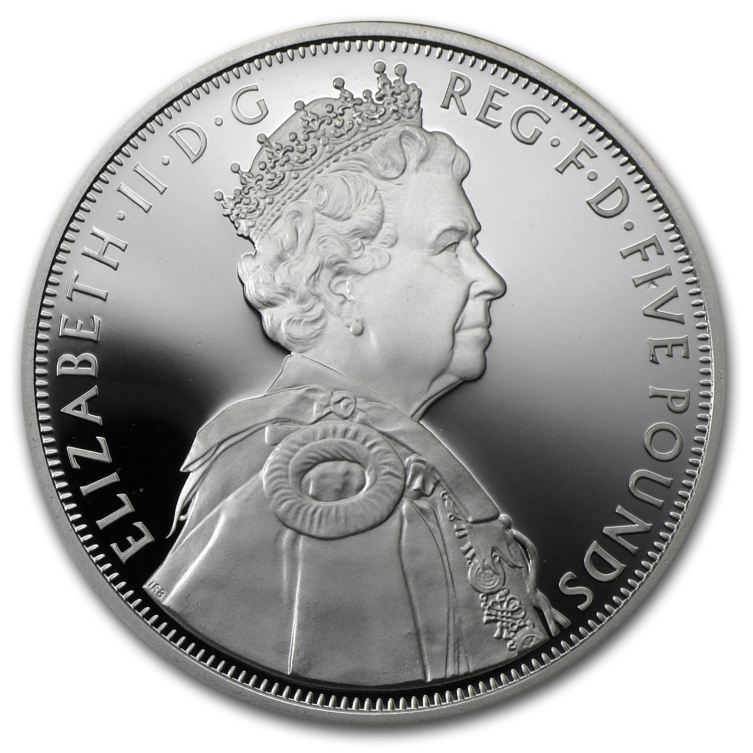 2012 Great Britain Silver £5 Queen's Diamond Jubilee Proof