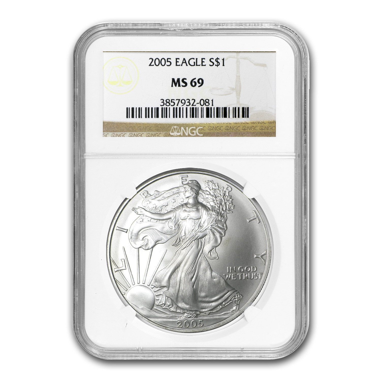 2005 Silver American Eagle MS-69 NGC