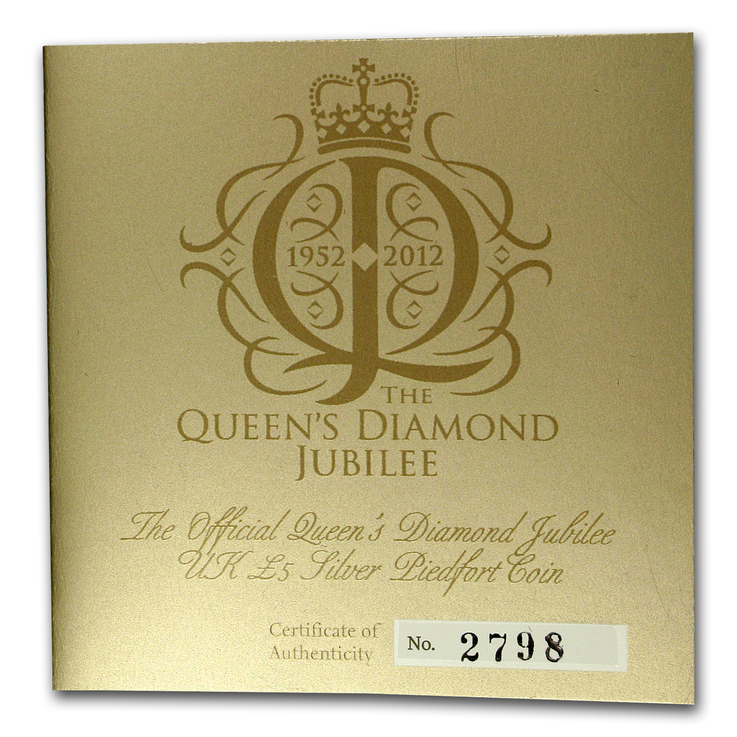 2012 GB Silver £5 Queen's Diamond Jubilee Proof (Piedfort)