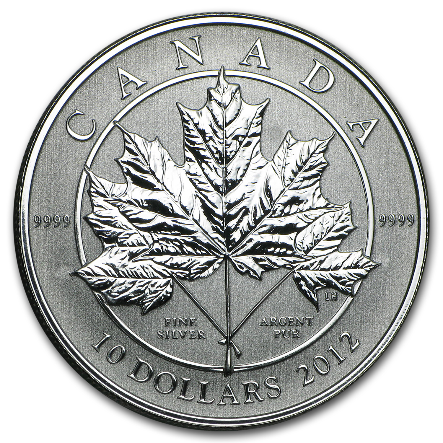 2012 1/2 oz Silver Canadian $10 Maple Leaf Forever (W/ COA)