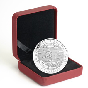 2012 1 oz Silver Canadian $20 F.H. Varley, Stormy Weather (W/Box)