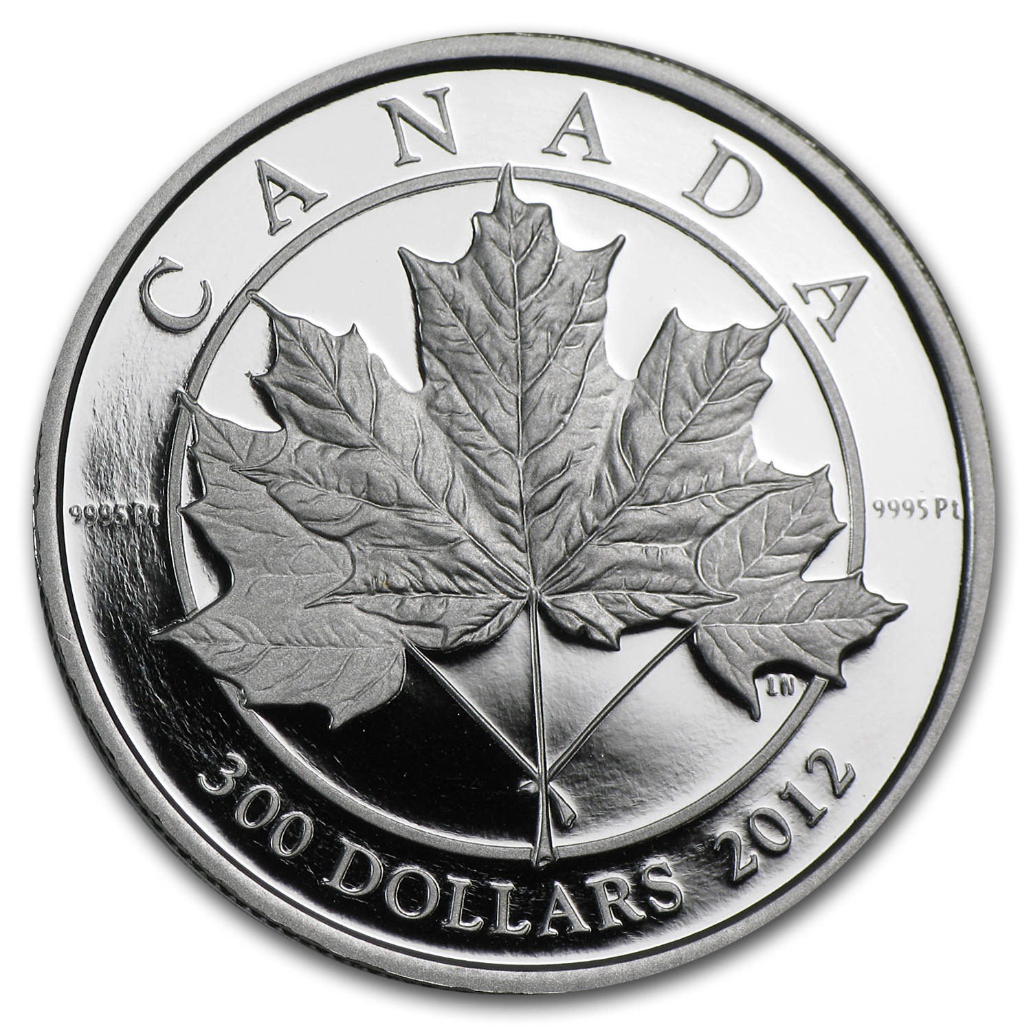 2012 Canada 1 oz Platinum Maple Leaf $300 Forever Proof (w/Box)