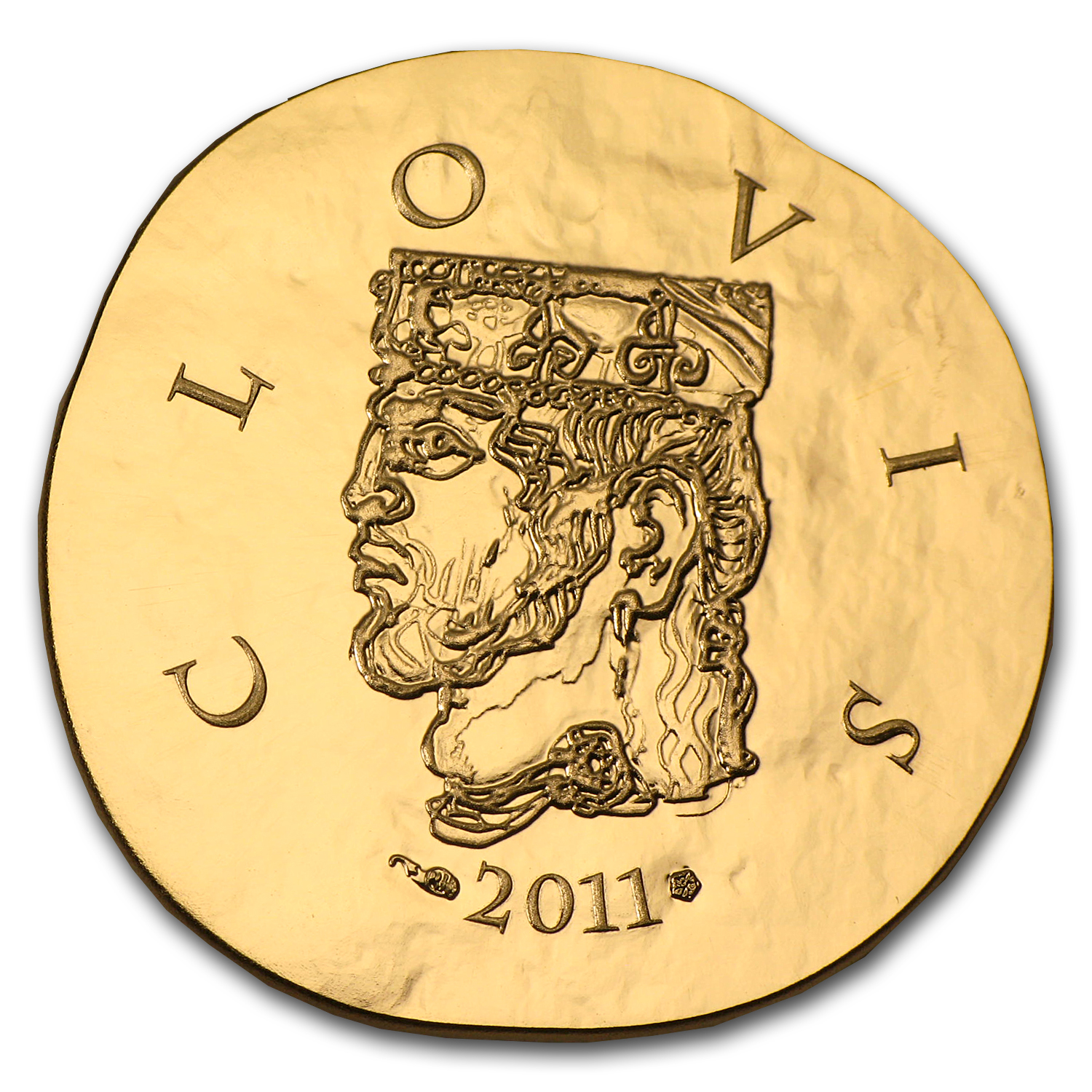 2011 1/4 oz Gold €50 Proof Legendary Collection - Clovis I
