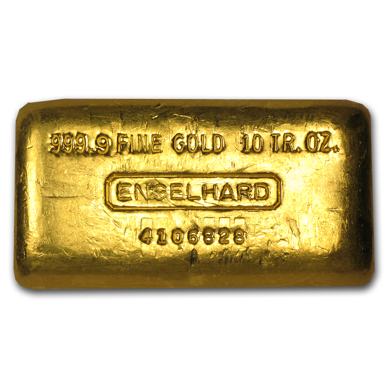 10 oz Gold Bar - Engelhard (Poured/Loaf-Style)