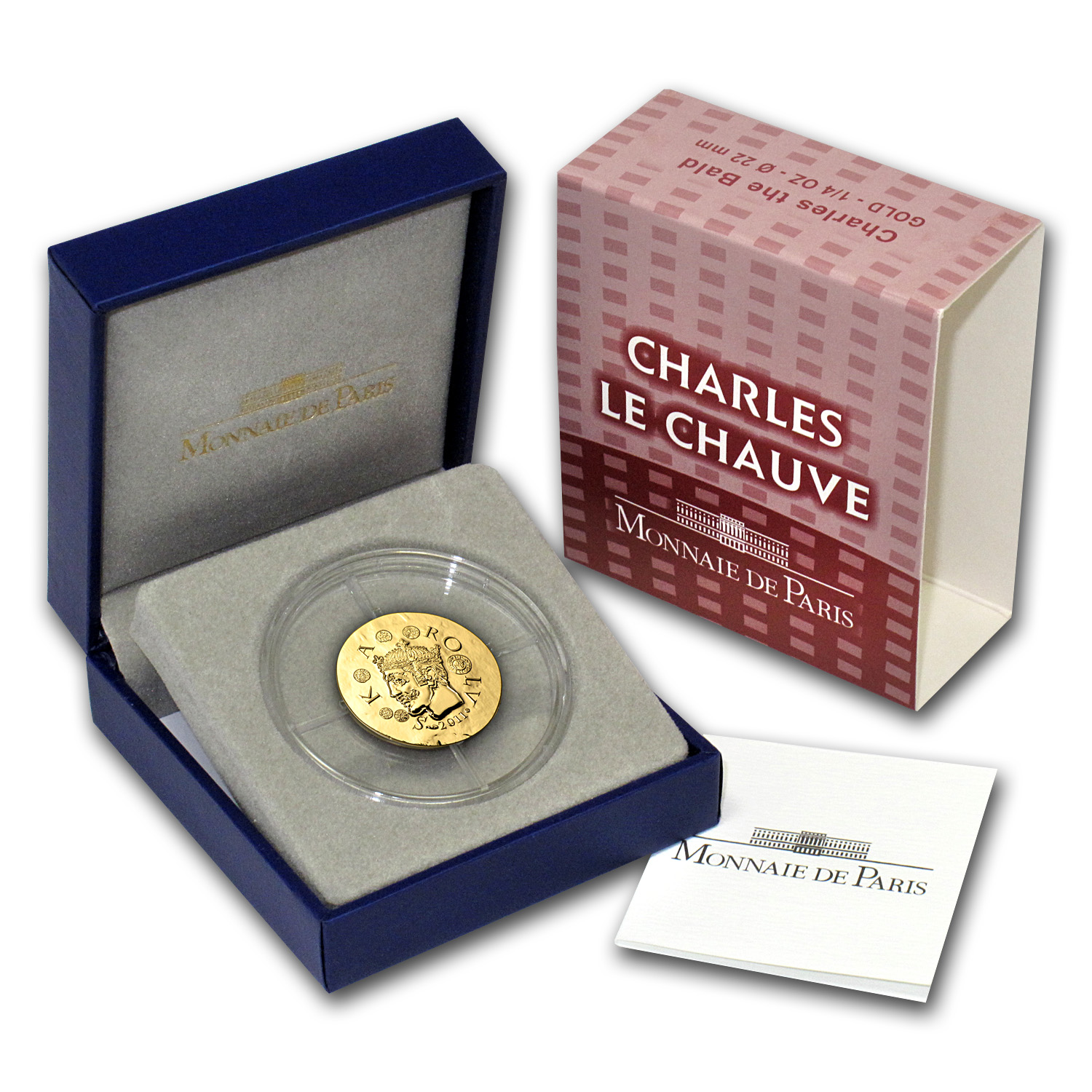 2011 1/4 oz Gold €50 Proof Legendary Collection-Charles the Bald