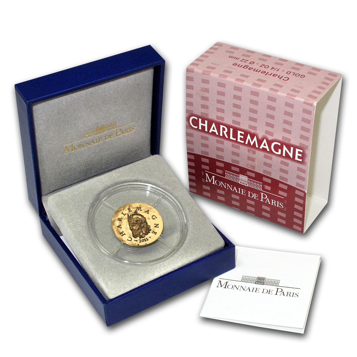 2011 1/4 oz Gold Proof Legendary Collection (50€) - Charlemagne