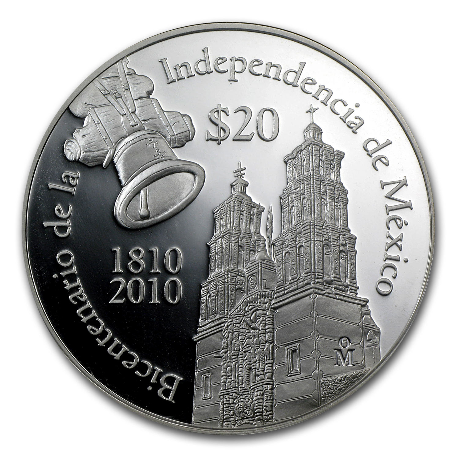 2010 Silver 2 oz Dolores Parish Bicentenario