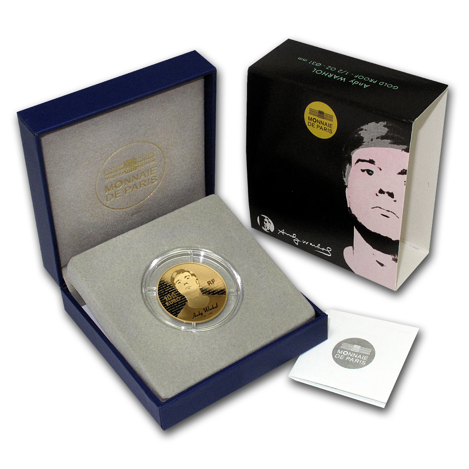 2011 1/2 oz Proof Gold Series of French Painters Andy Warhol
