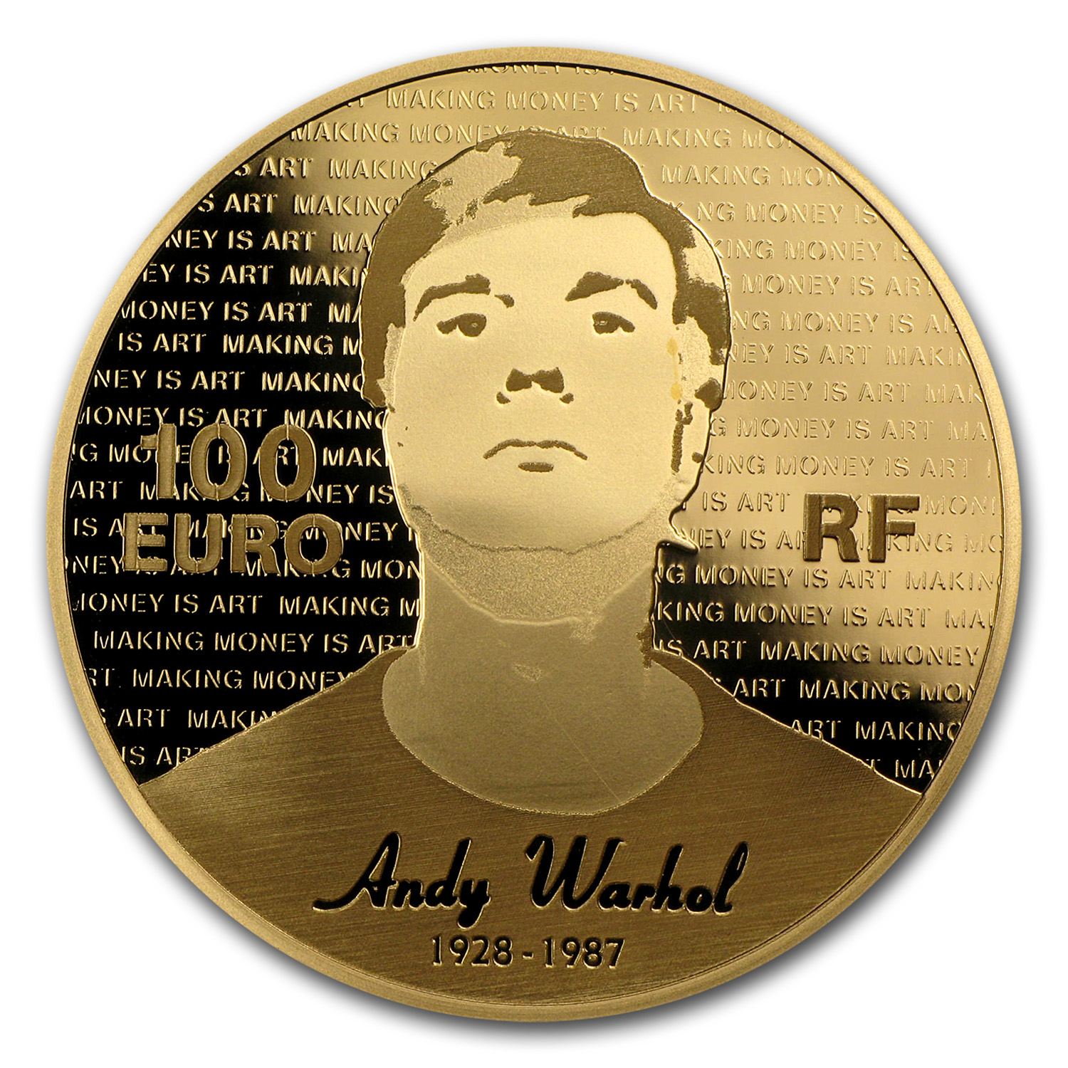2011 1 2 Oz Gold Proof Series Of French Painters Andy Warhol