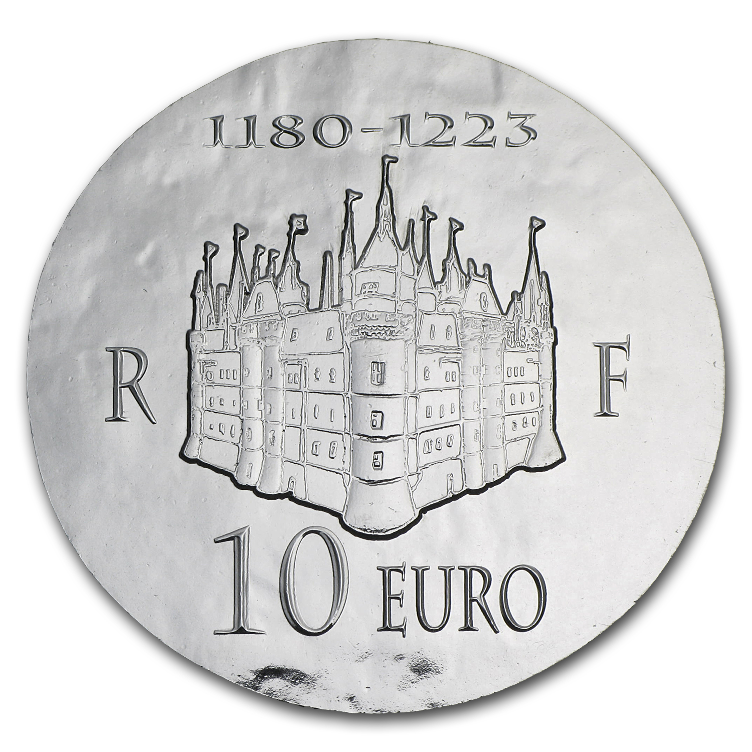 2012 €10 Silver Proof Legendary Collection - Philippe II Auguste