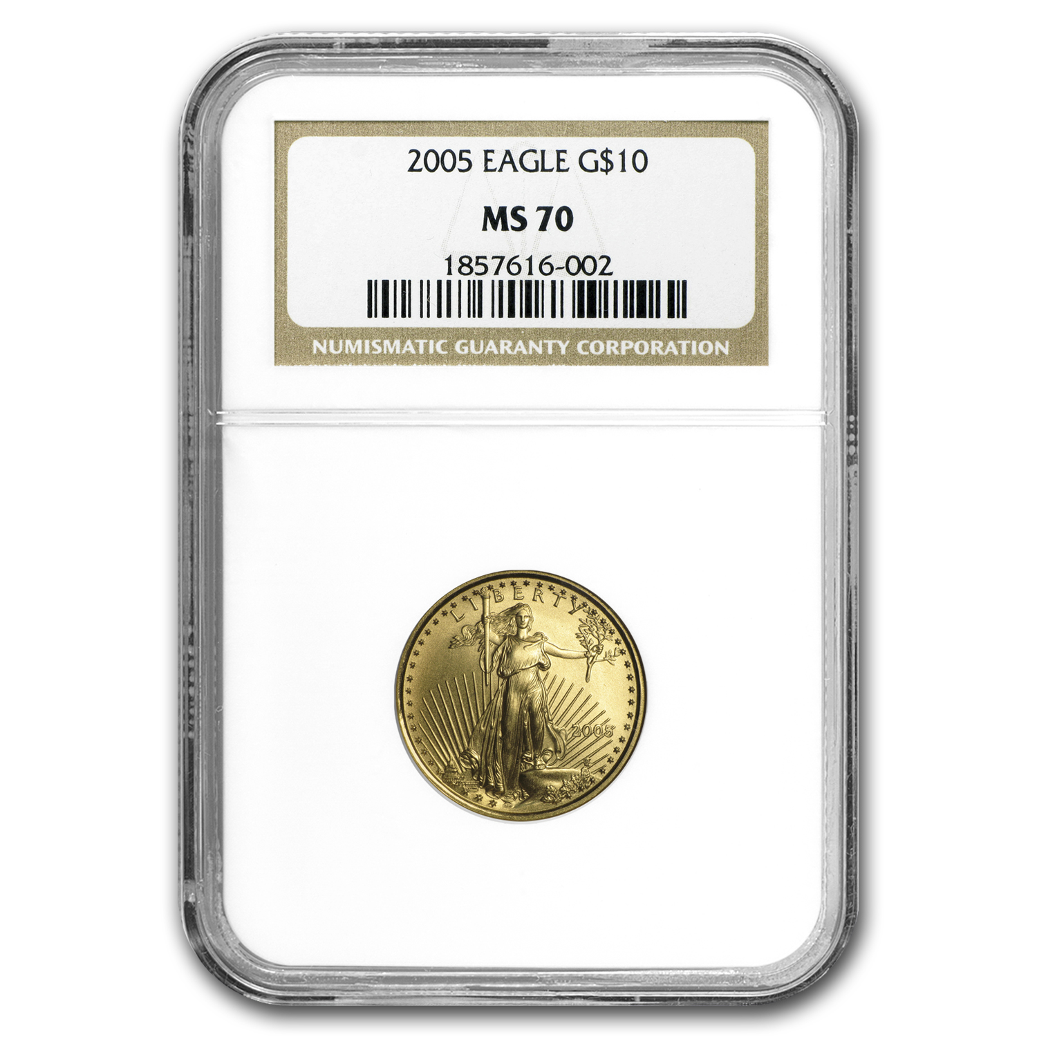 2005 4-Coin Gold American Eagle Set MS-70 NGC