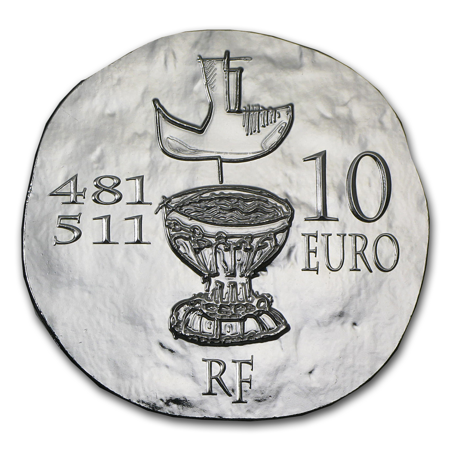 2011 France Silver €10 Legendary Collection Proof (Clovis)