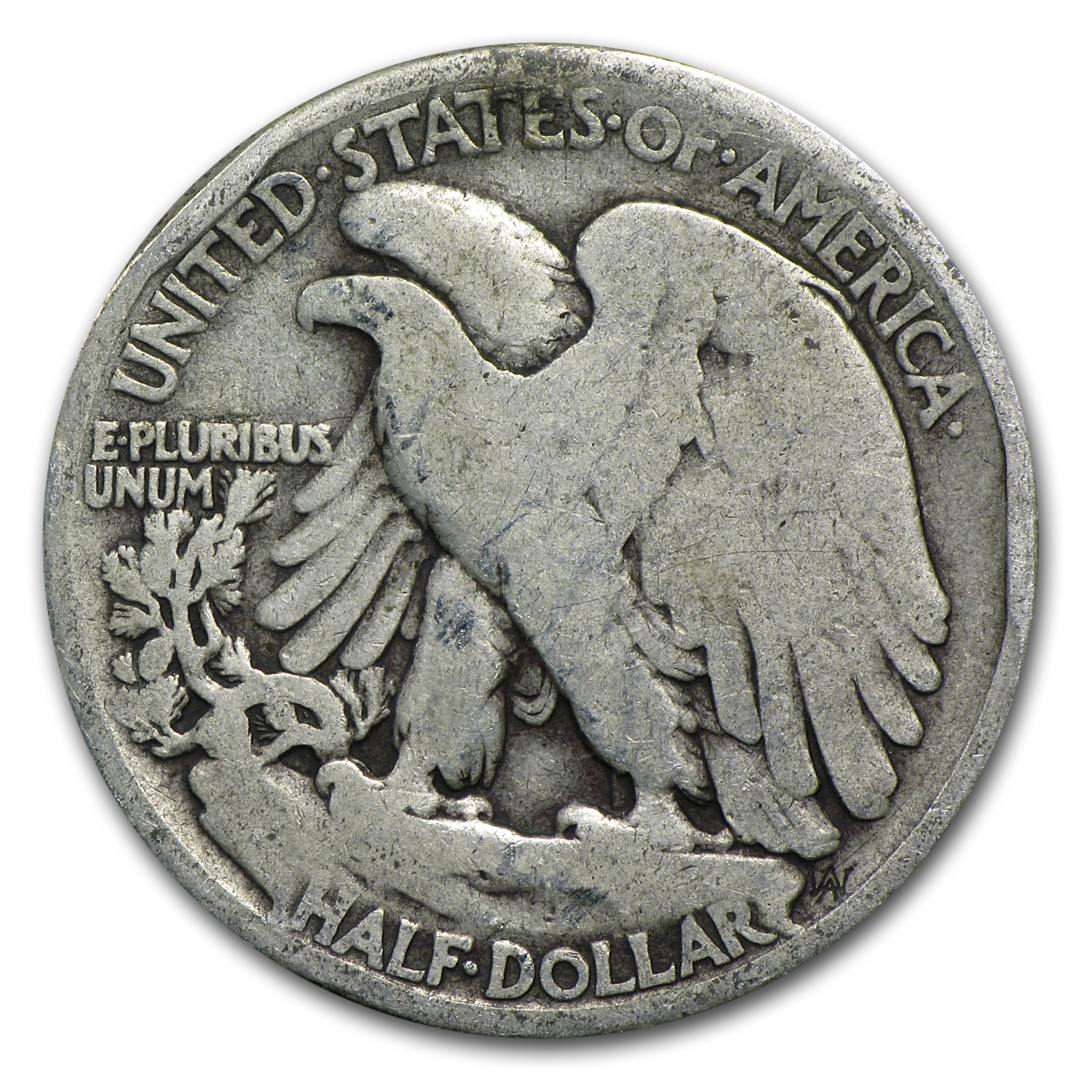 1917-S Obverse - Walking Liberty Half Dollar (Good)