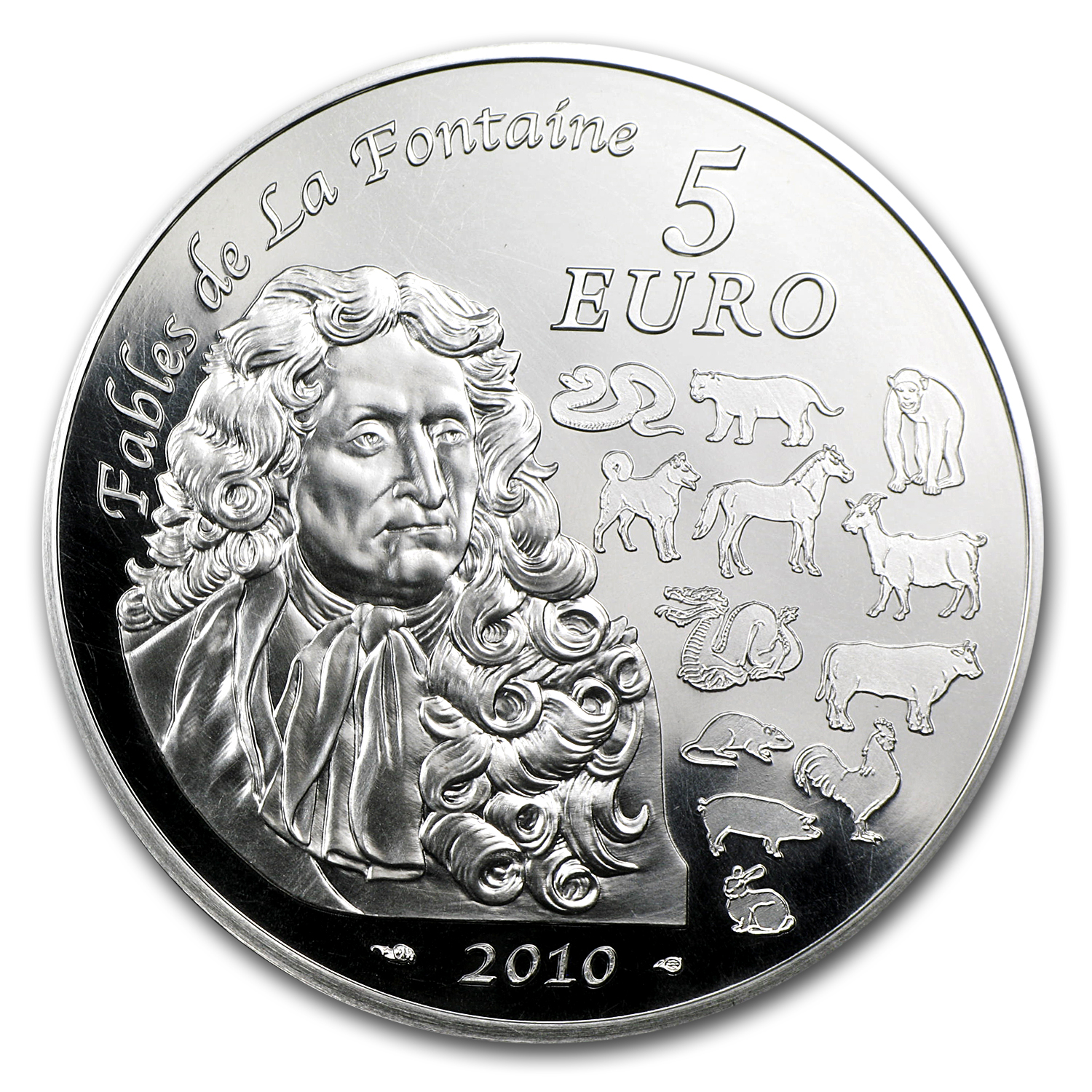 2010 5 Euro Silver France Year of the Tiger Coin - Lunar Series