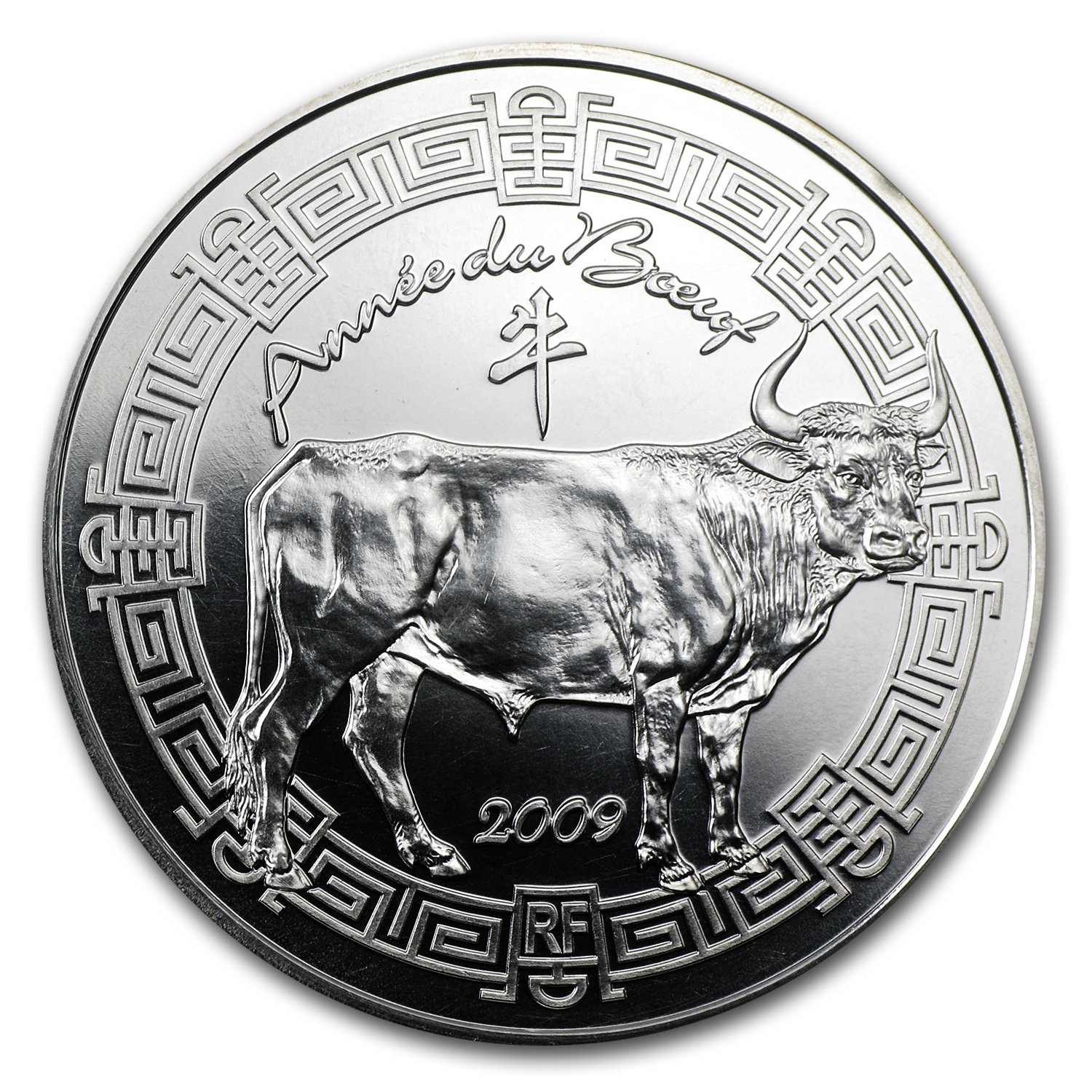 2009 €5 Silver France Year of the Ox Lunar Series