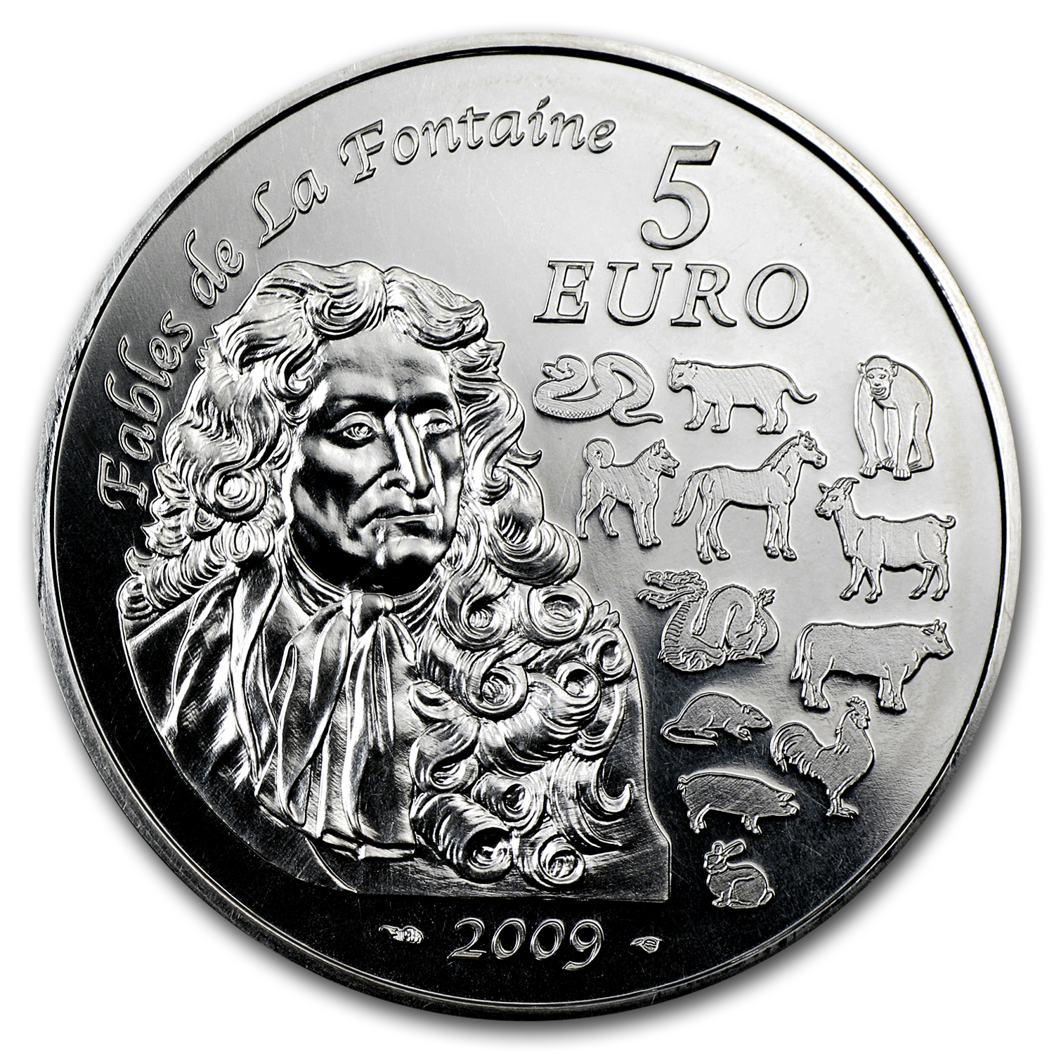 2009 France Silver €5 Year of the Ox BU (Lunar Series)