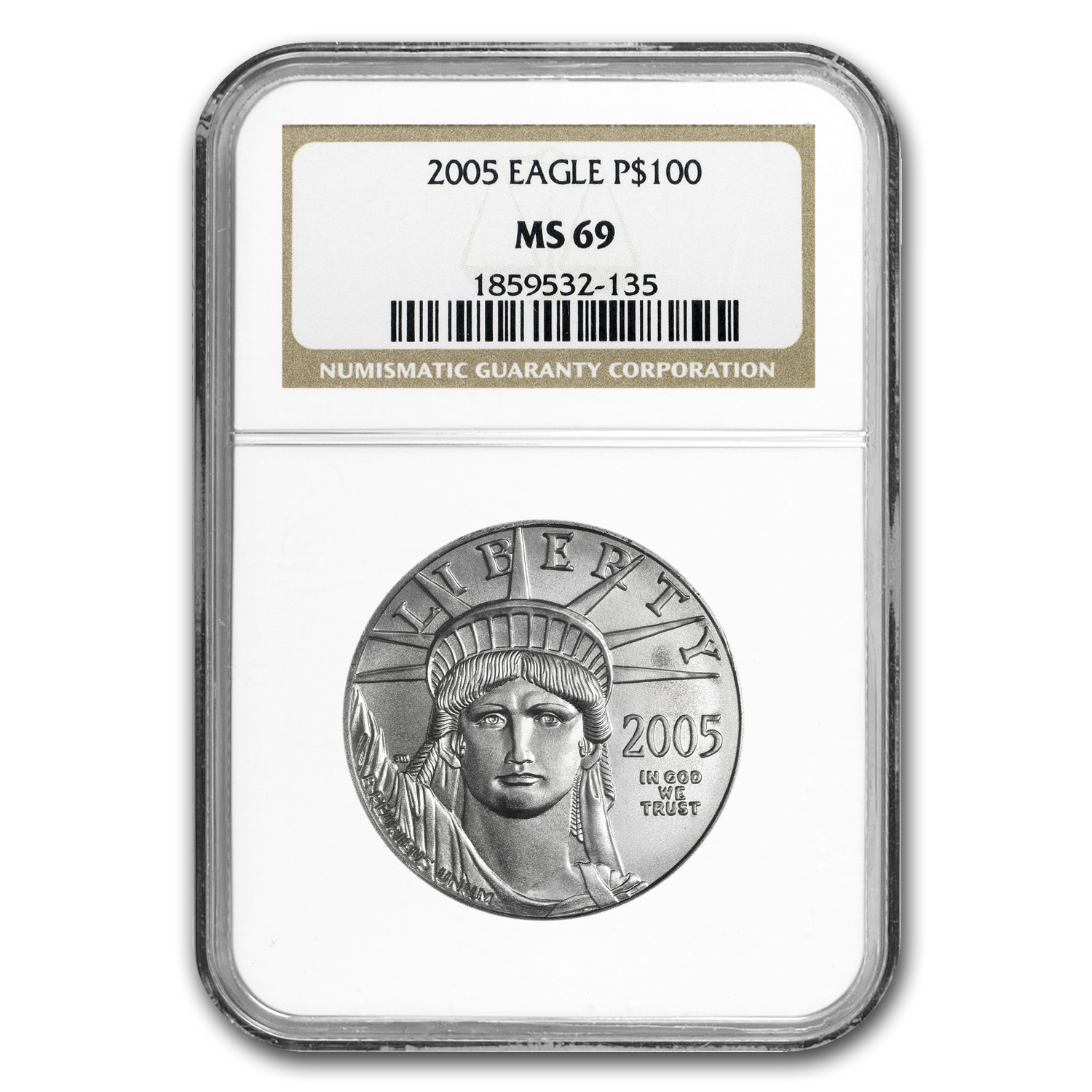 2005 1 oz Platinum American Eagle MS-69 NGC