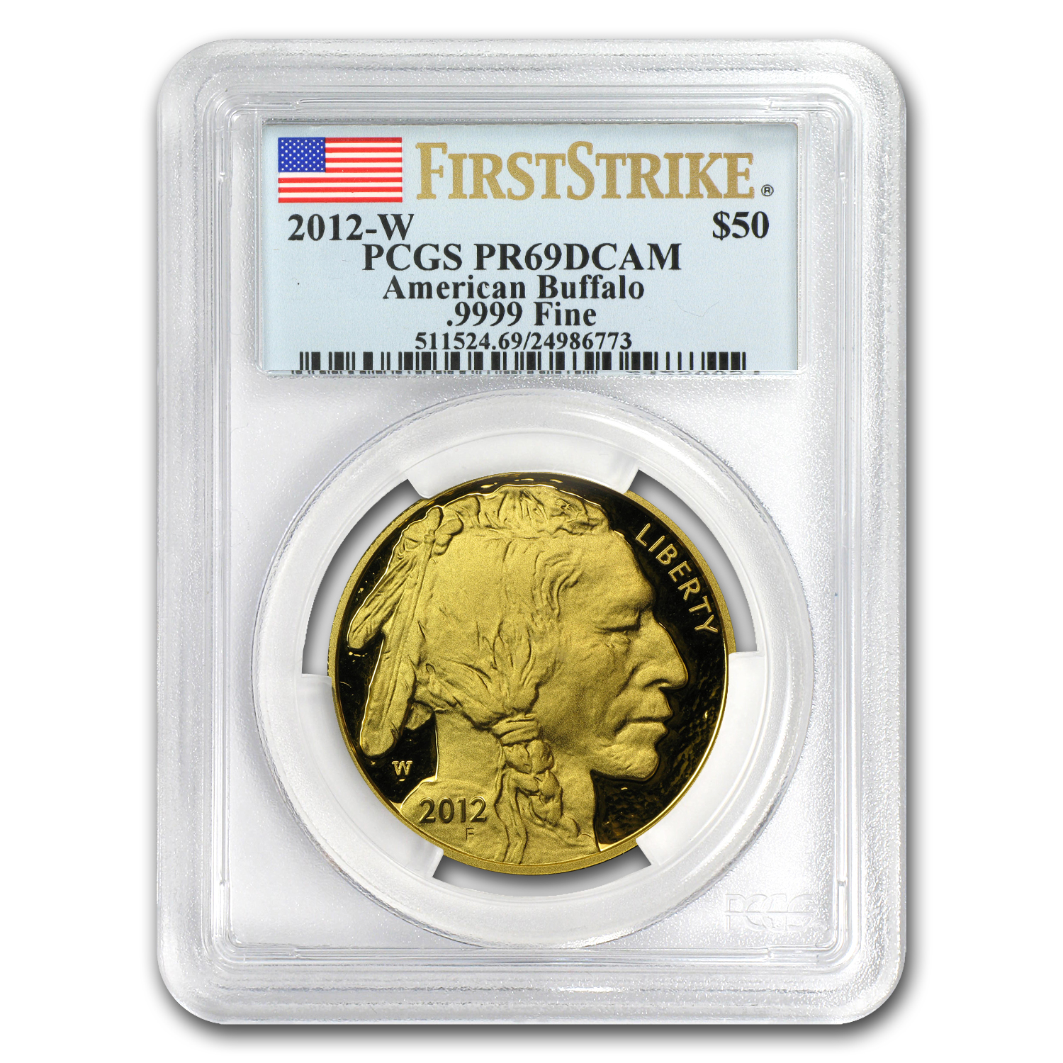 2012-W 1 oz Proof Gold Buffalo PR-69 PCGS (First Strike)