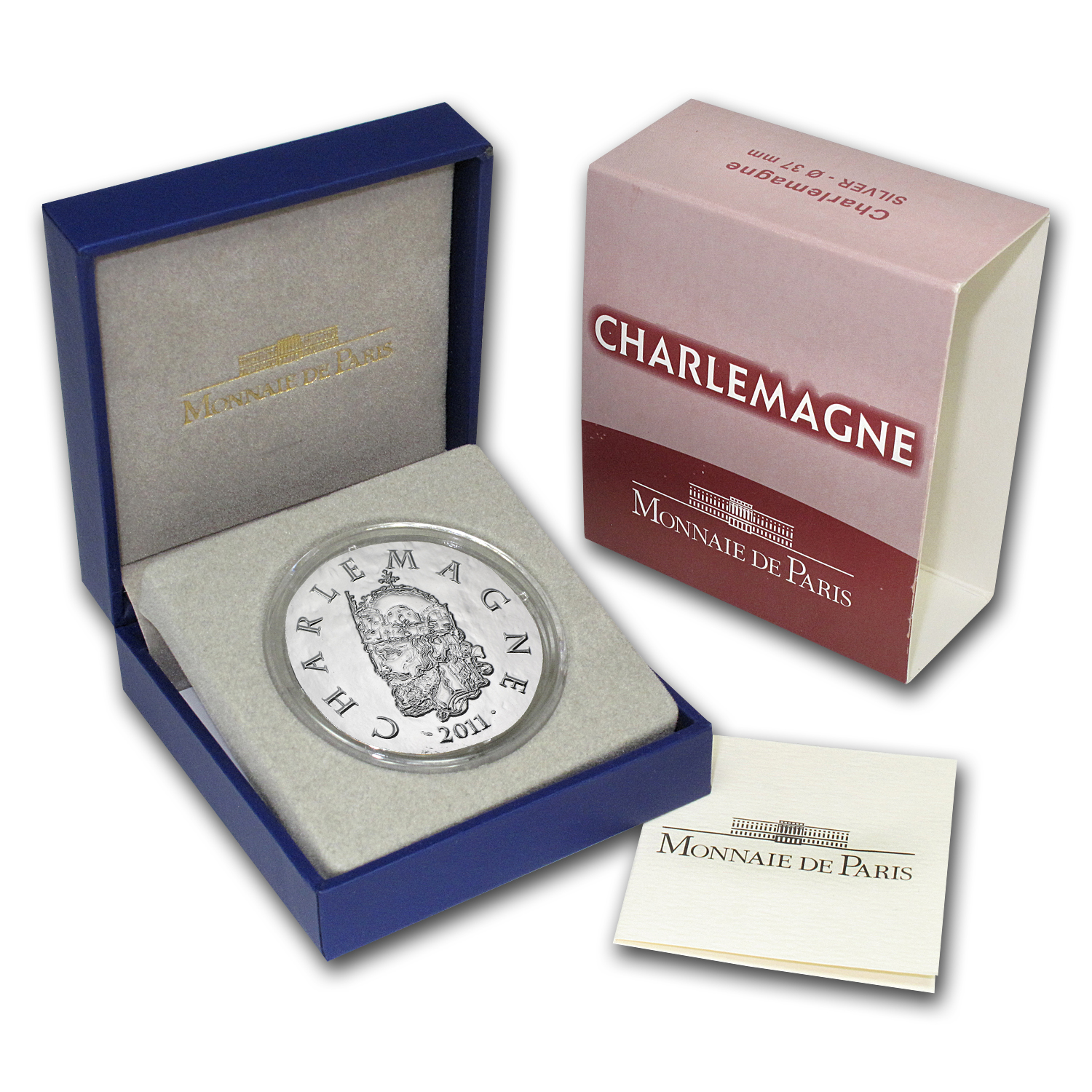 2011 €10 Silver Proof Legendary Collection - Charlemagne