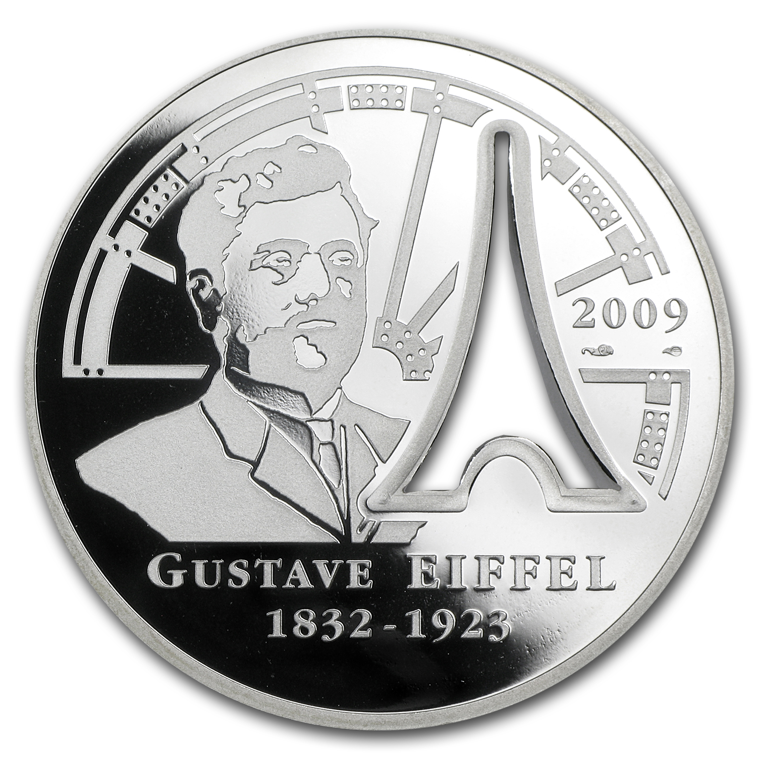 2009 France Silver €10 Gustave Eiffel Proof
