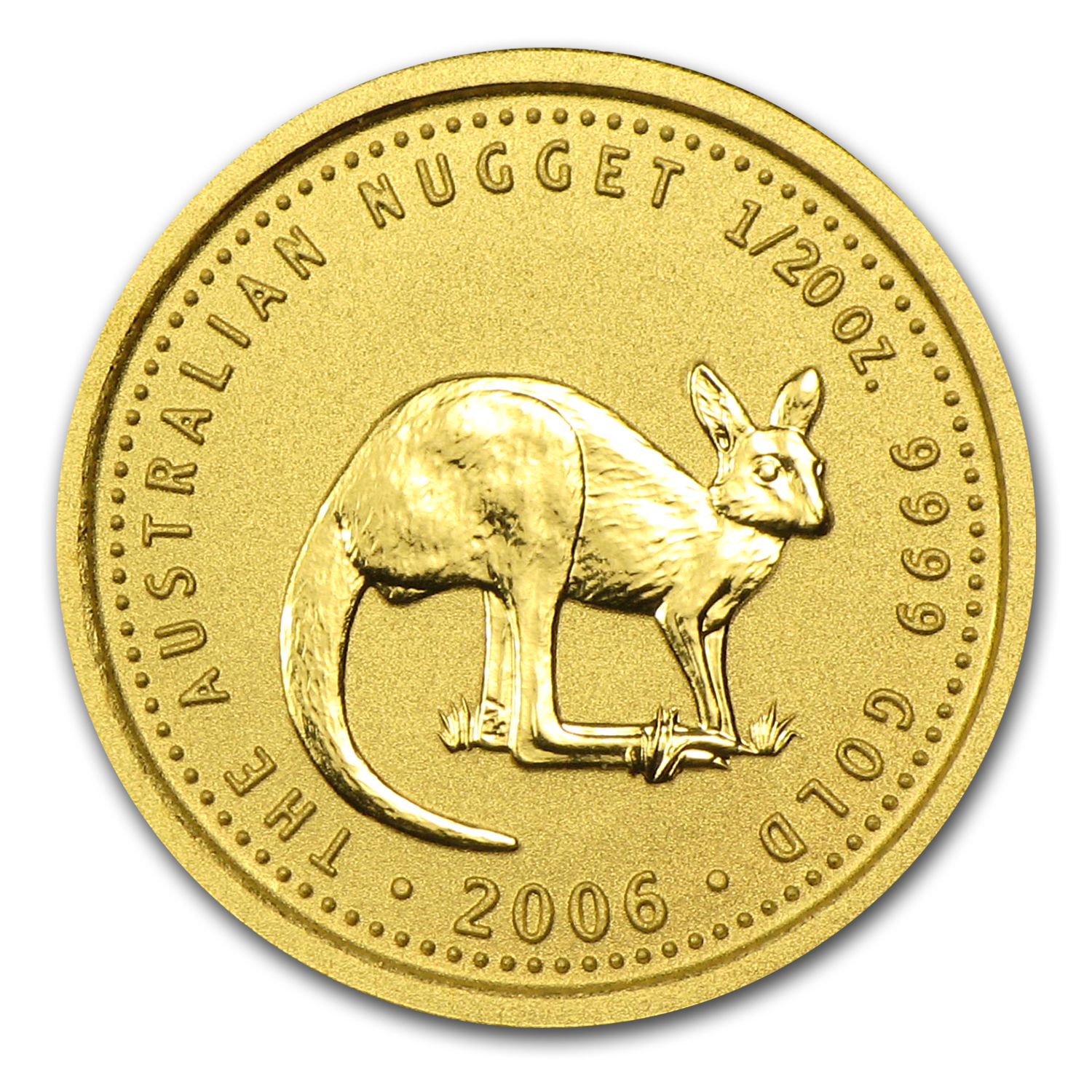 2006 Australia 1/20 oz Gold Nugget