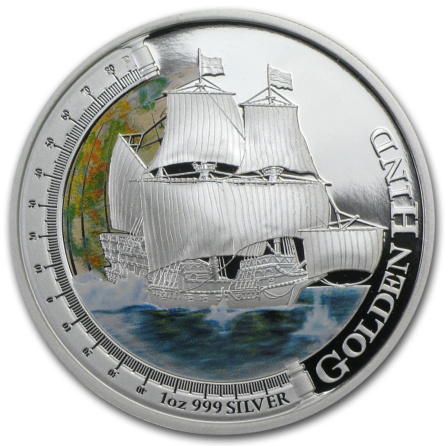 2011 1 oz Silver Ships that Changed the World Proof (Golden Hind)