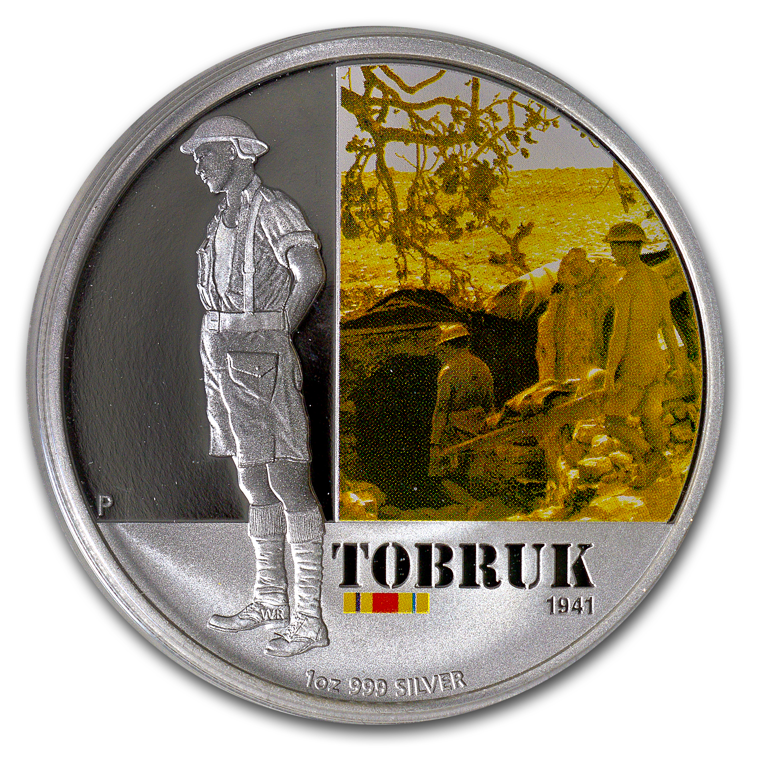 2011 Australia 1 oz Silver Battle of Tobruk Proof