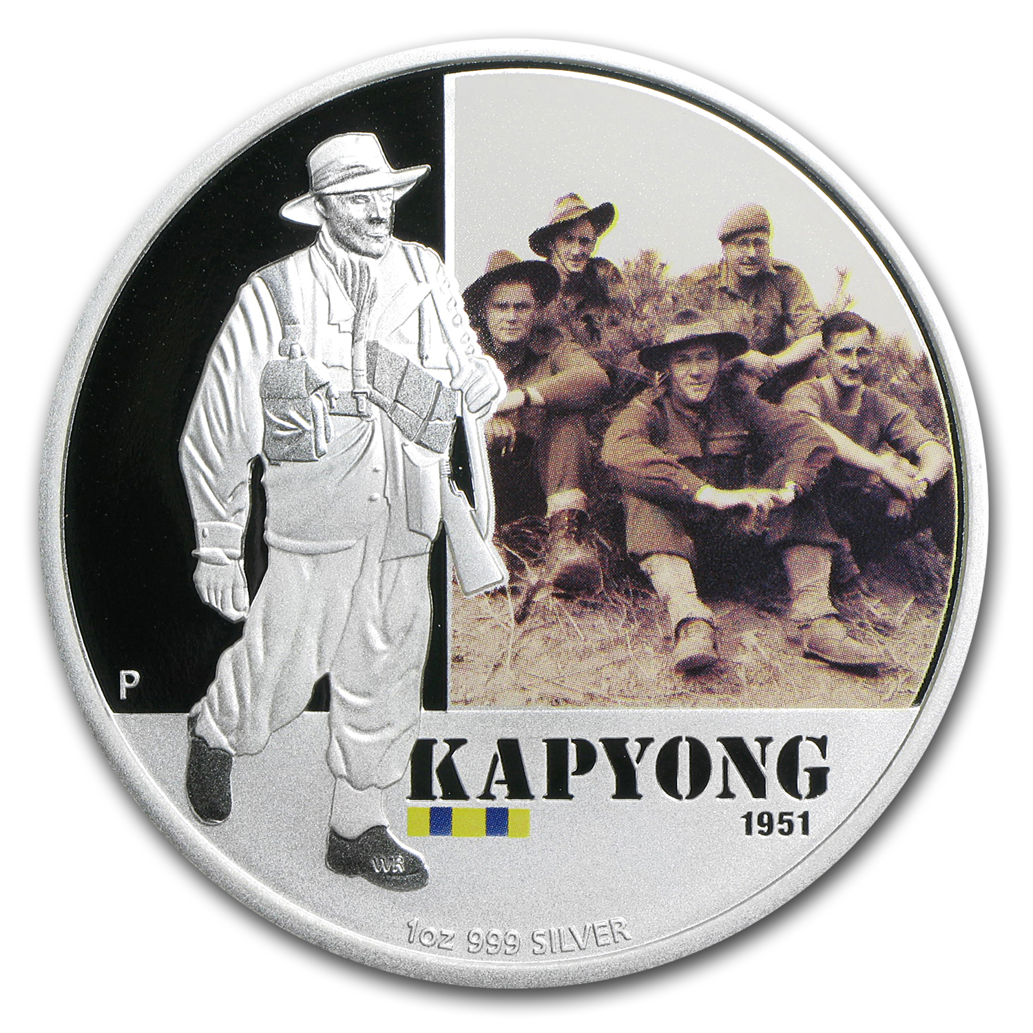 2012 Australia 1 oz Silver Battle of Kapyong Proof