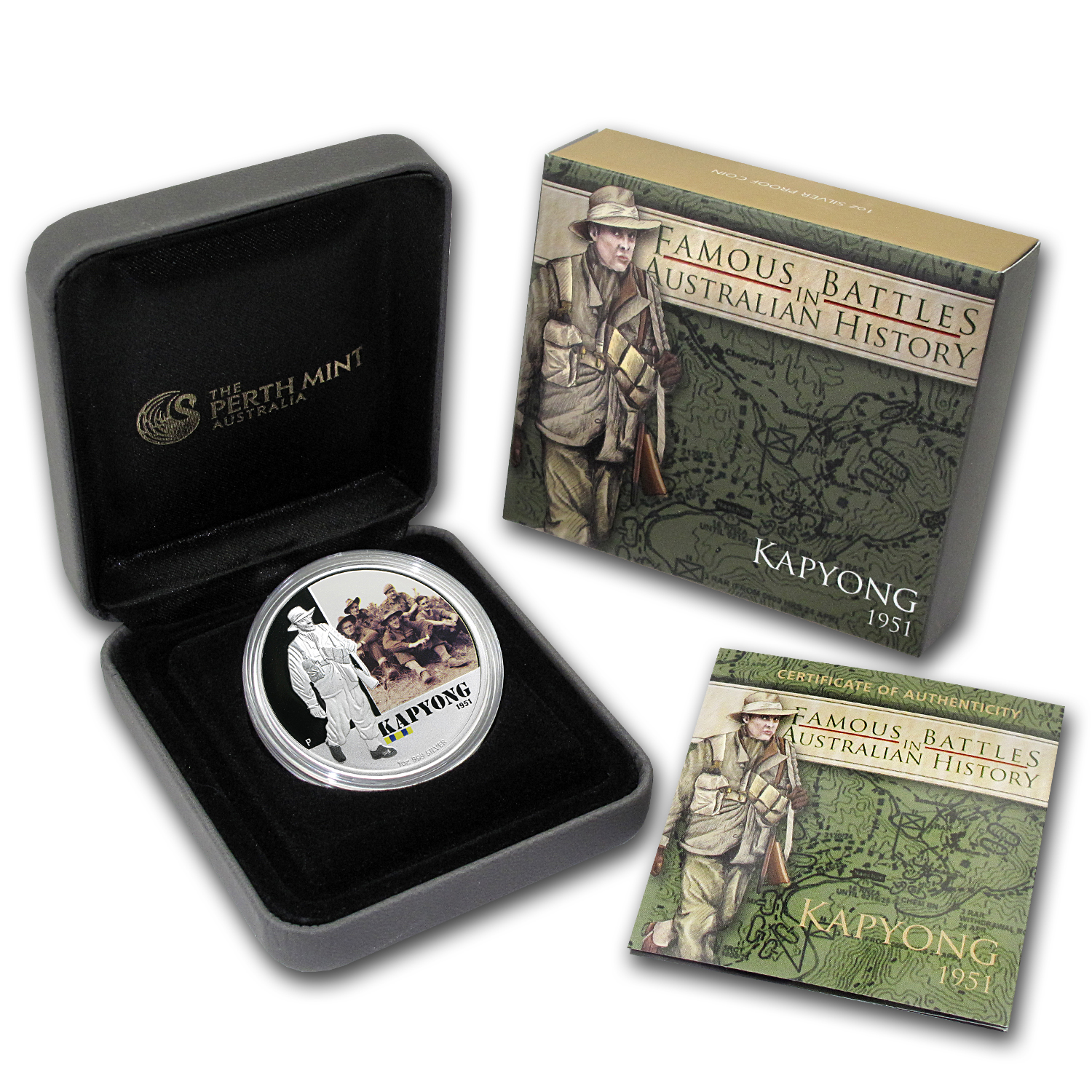 2012 1 oz Proof Silver Battle of Kapyong - Australian History