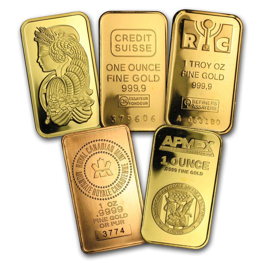 1 oz Gold Bars - Secondary Market