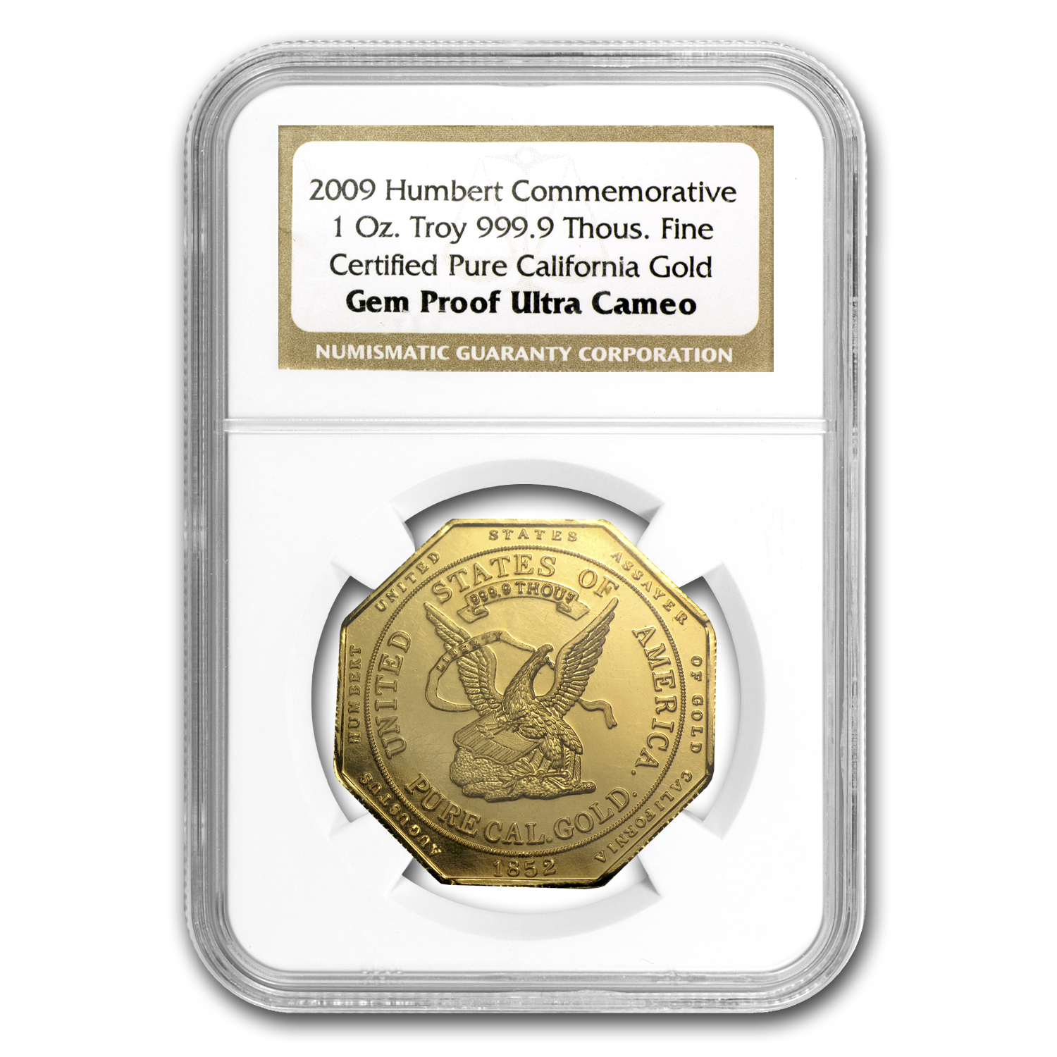 1 oz Gold Round - 2009 Humbert Commemorative Gold Proof NGC