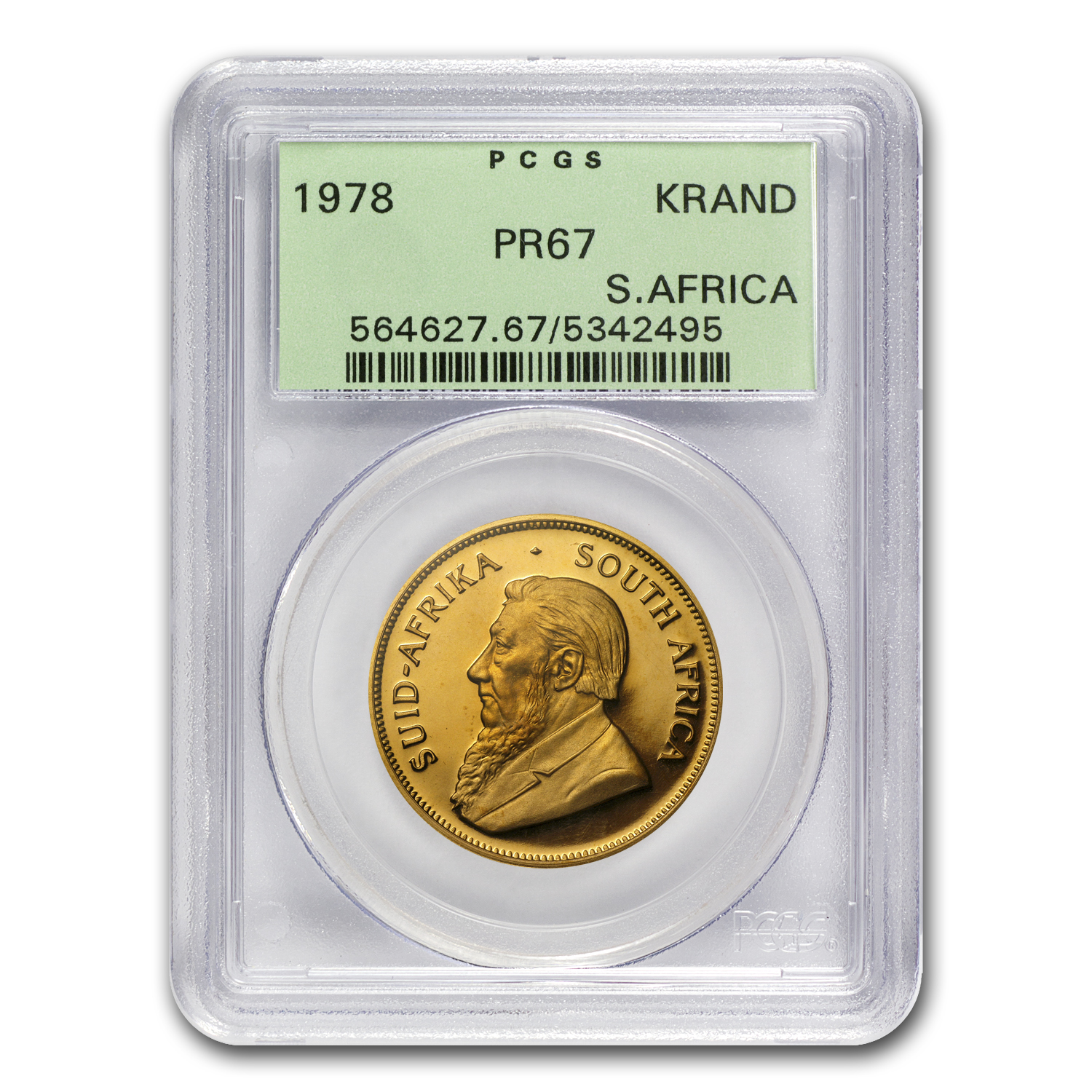 1978 1 oz Gold South African Krugerrand PR-67 PCGS Registry Set