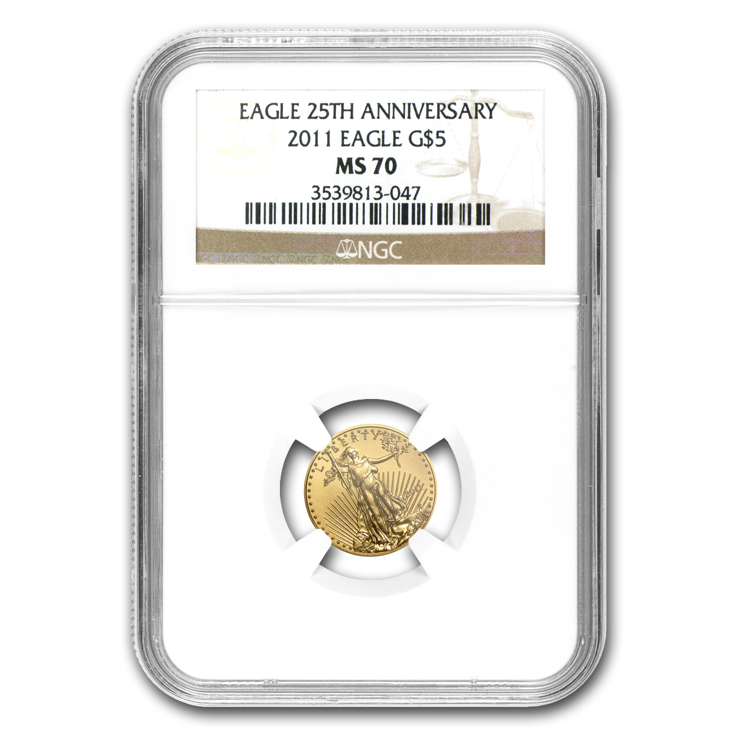2011 1/10 oz Gold American Eagle MS-70 NGC