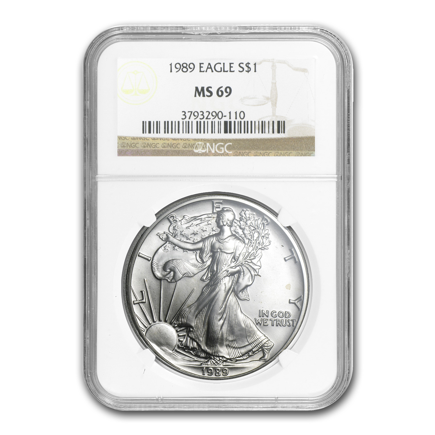 1989 Silver American Eagle MS-69 NGC