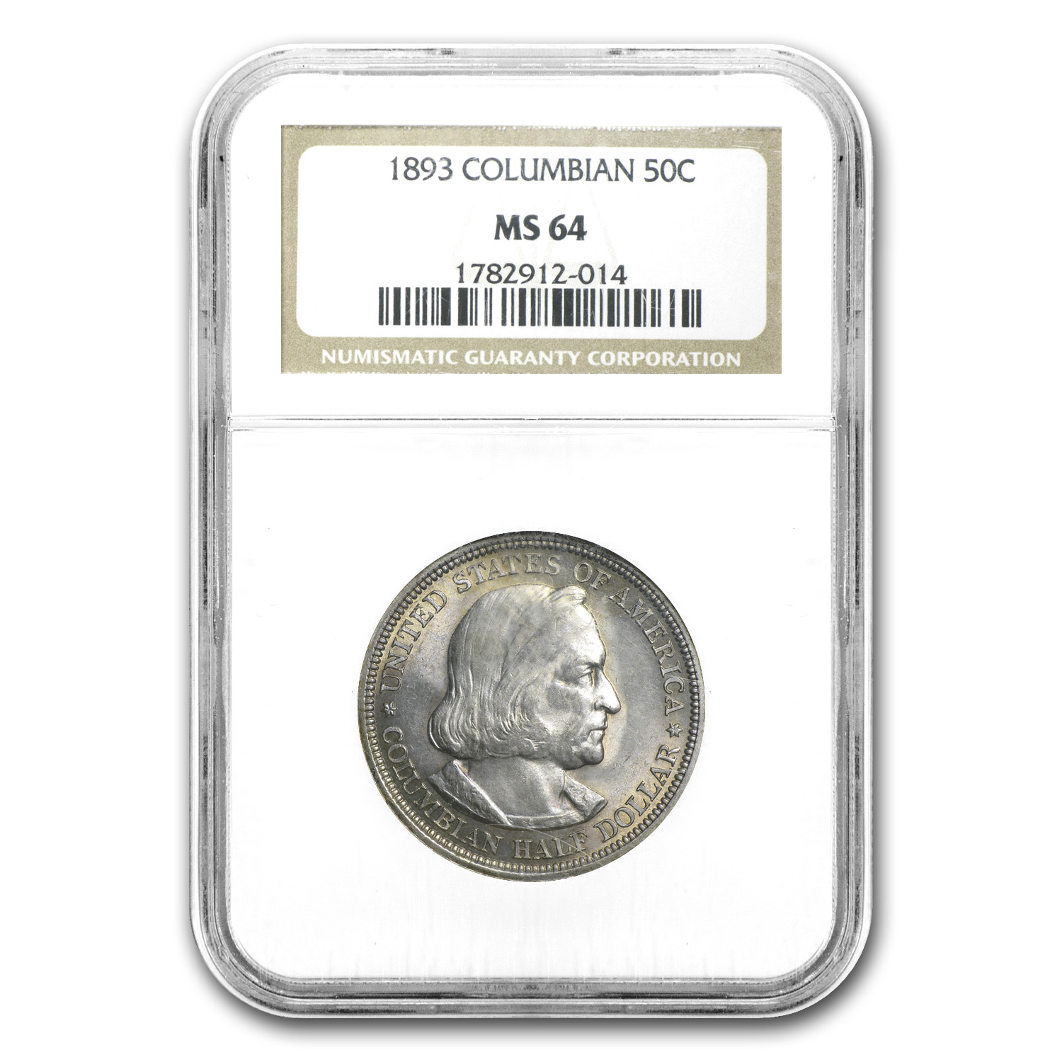 1893 Columbian Expo Half Dollar MS-64 NGC