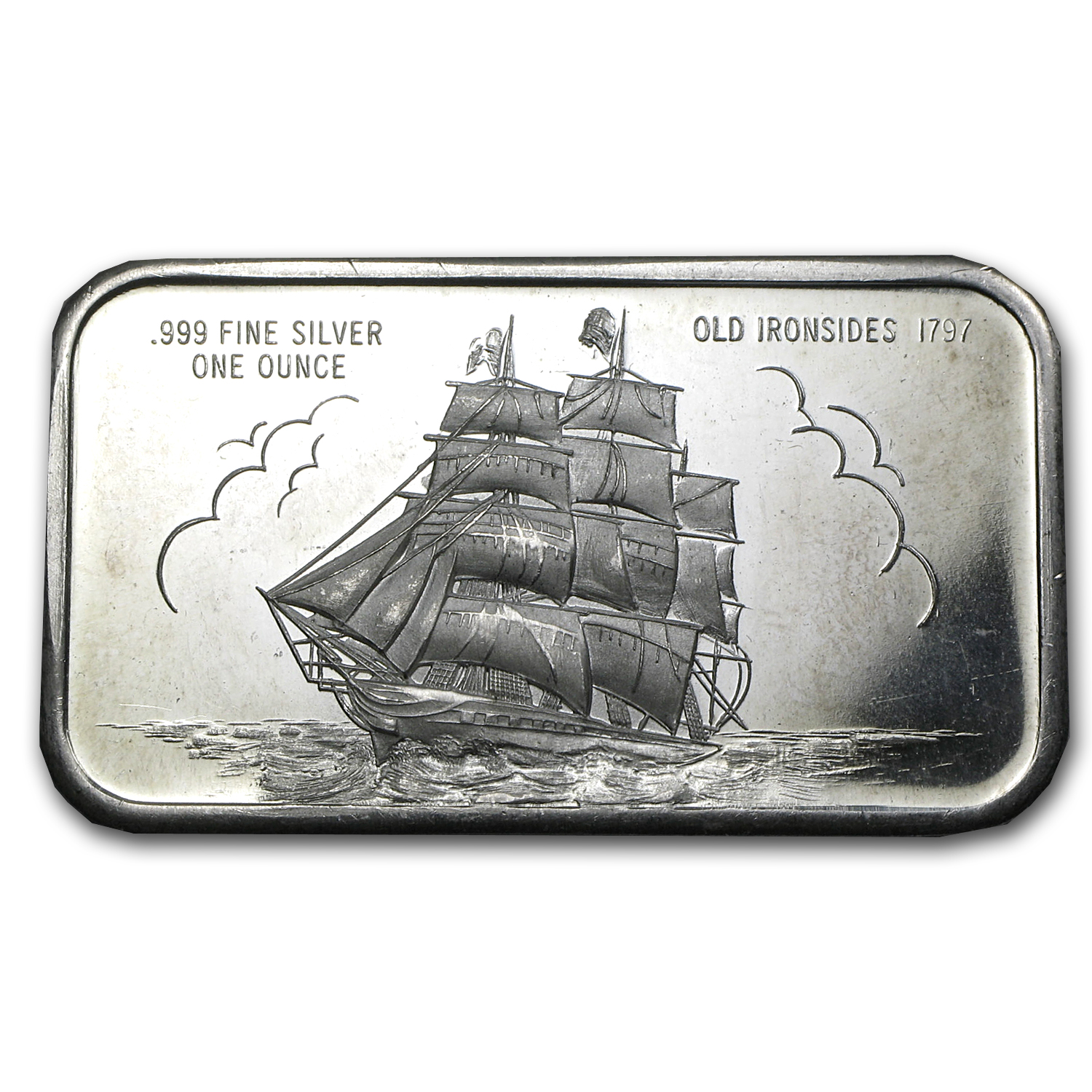 1 oz Silver Bar - Old Ironsides Ship