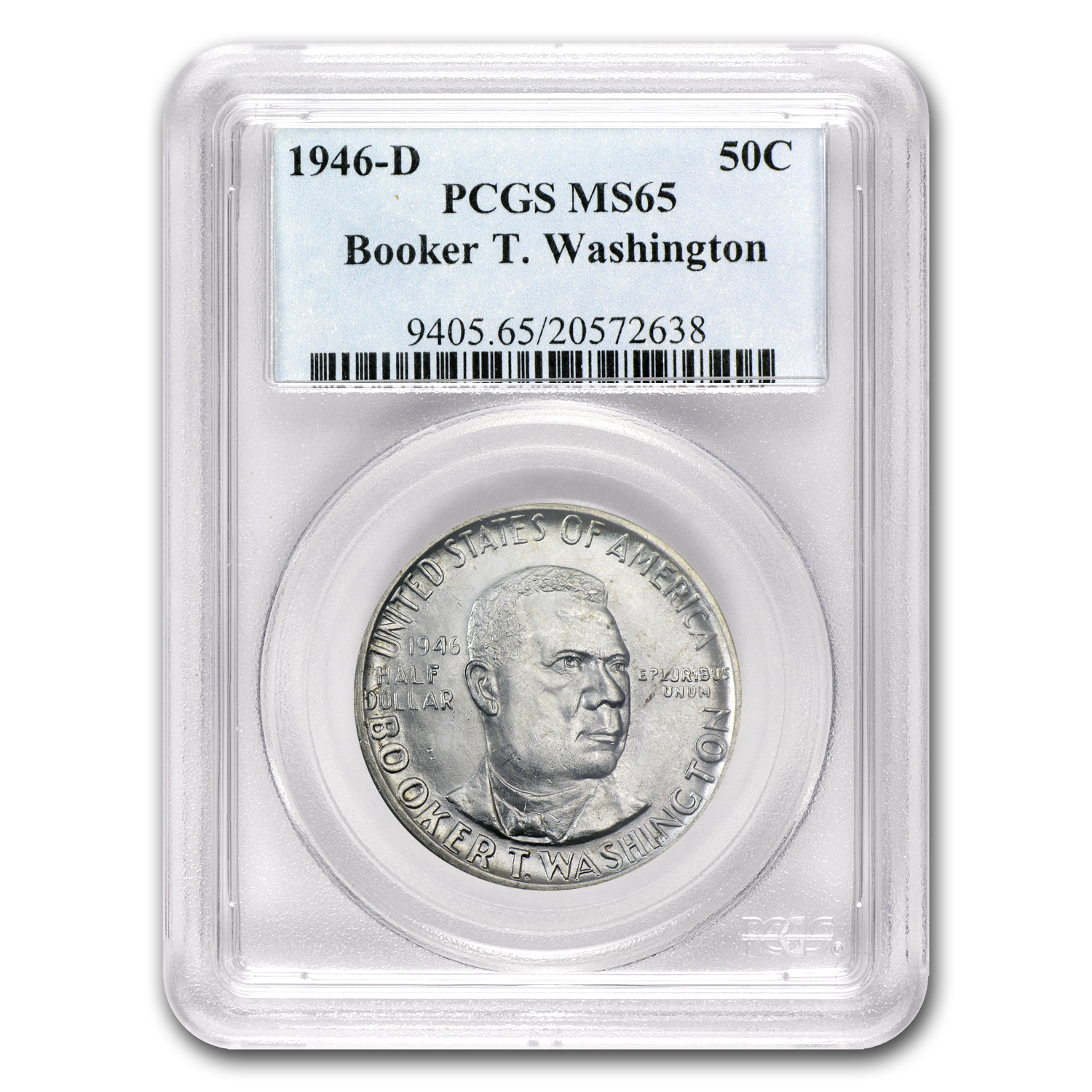 1946-D Booker T. Washington Half MS-65 PCGS