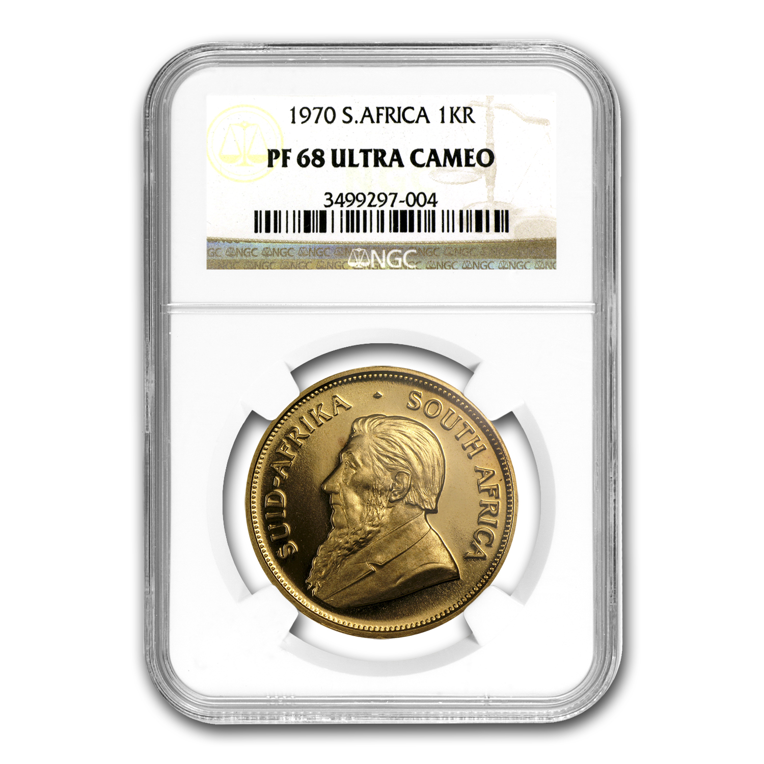 1970 1 oz Gold South African Krugerrand PF-68 UCAM NGC